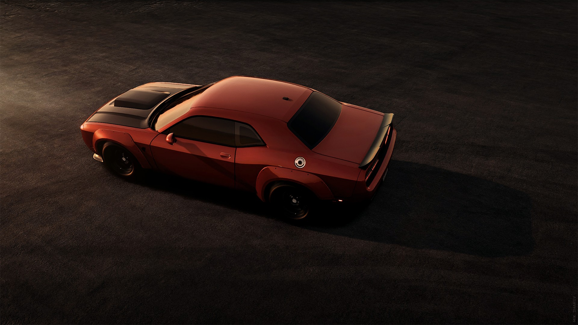 Car Dodge Dodge Challenger Dodge Challenger Srt Muscle Car Red Car Vehicle 1920x1080