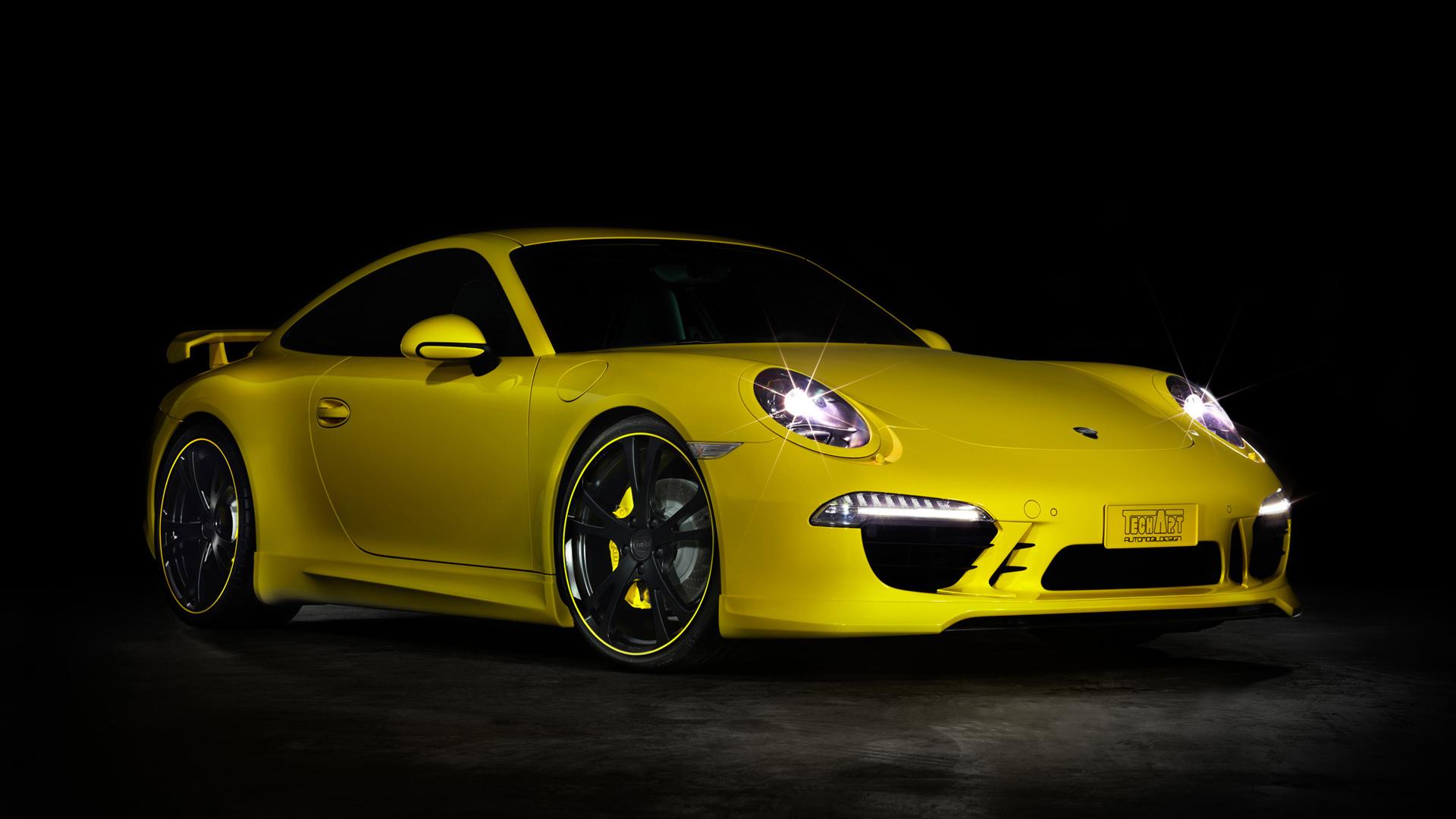 Car Porsche Porsche 911 Sport Car Yellow Car 1920x1080
