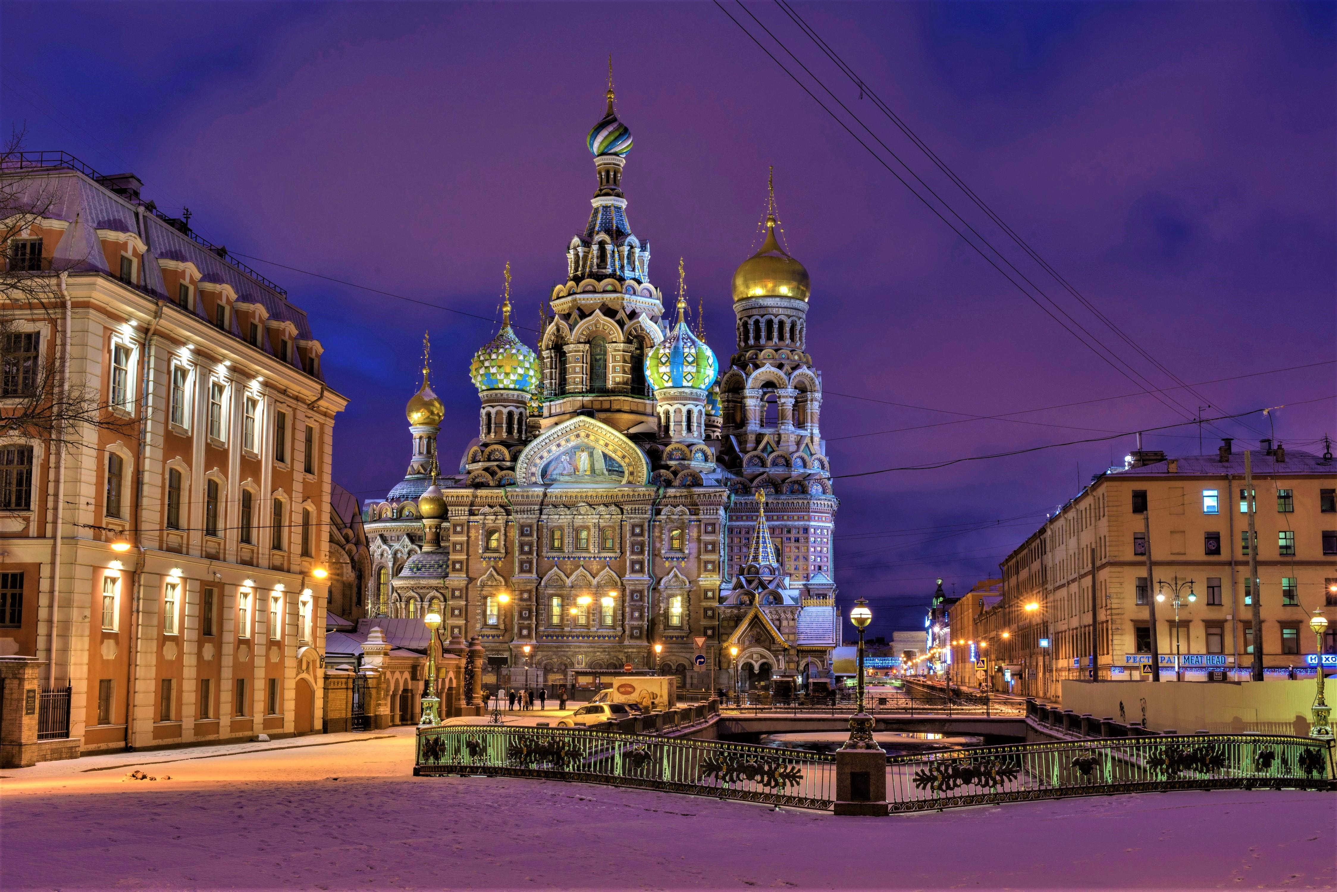 Architecture Church Russia Saint Petersburg Square 4495x3000