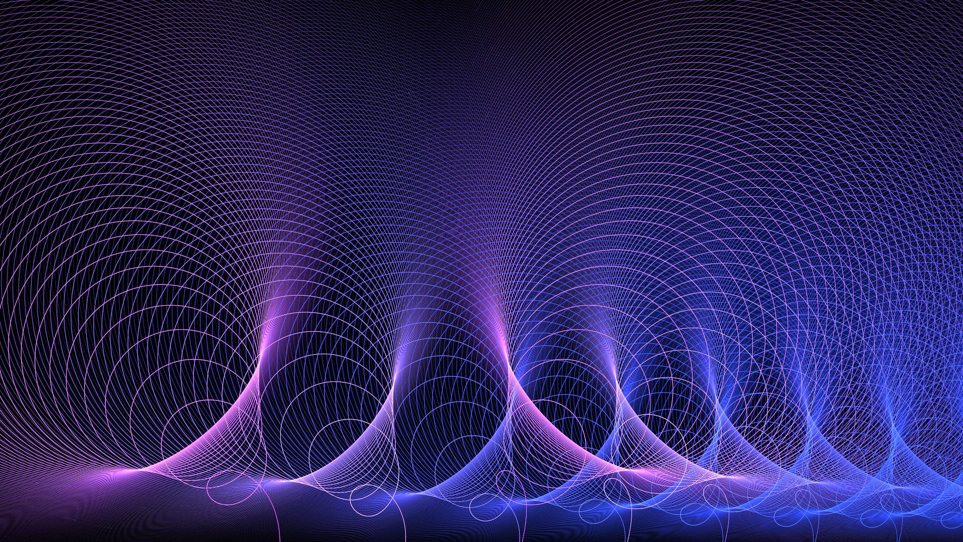 Artistic Digital Art Energy Fractal Purple Science Wave 1920x1080