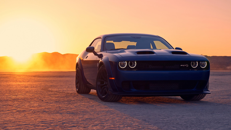 Blue Car Car Dodge Dodge Challenger Dodge Challenger Srt Muscle Car Vehicle 3000x1688