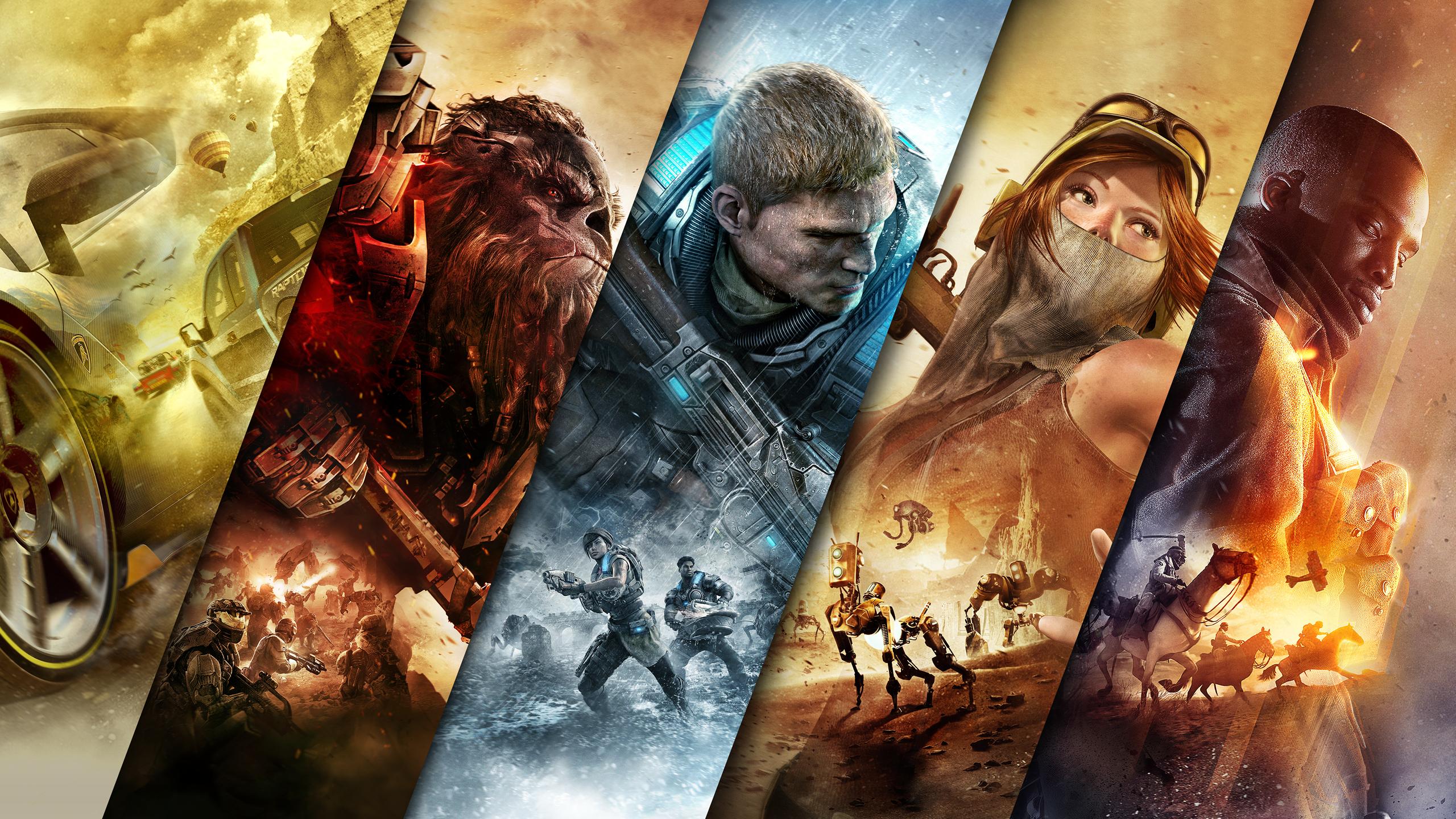 Battlefield 1 Forza Horizon 3 Gears Of War 4 Halo Wars 2 Recore 2560x1440