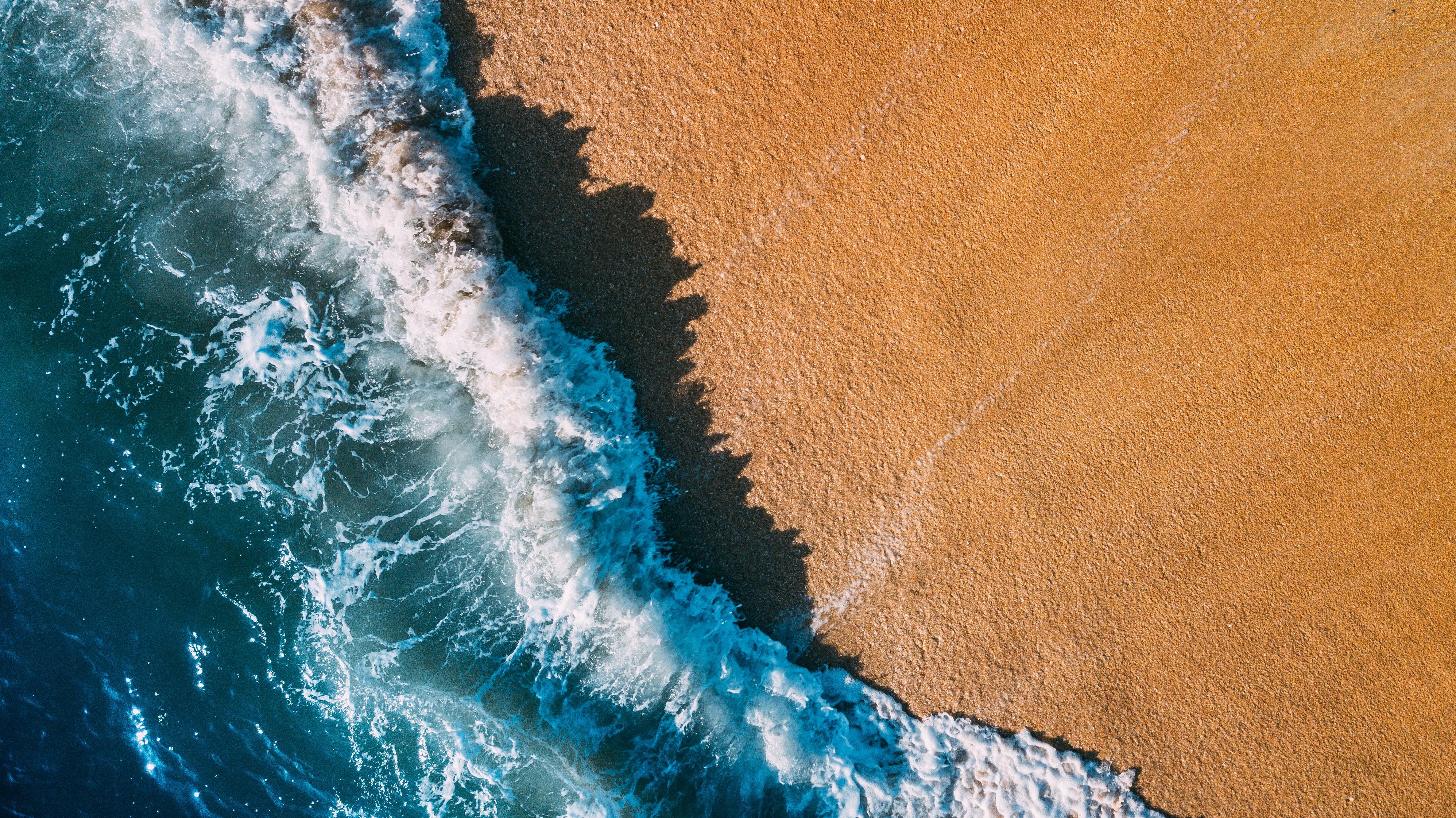Nature Beach Sand Water 3992x2242