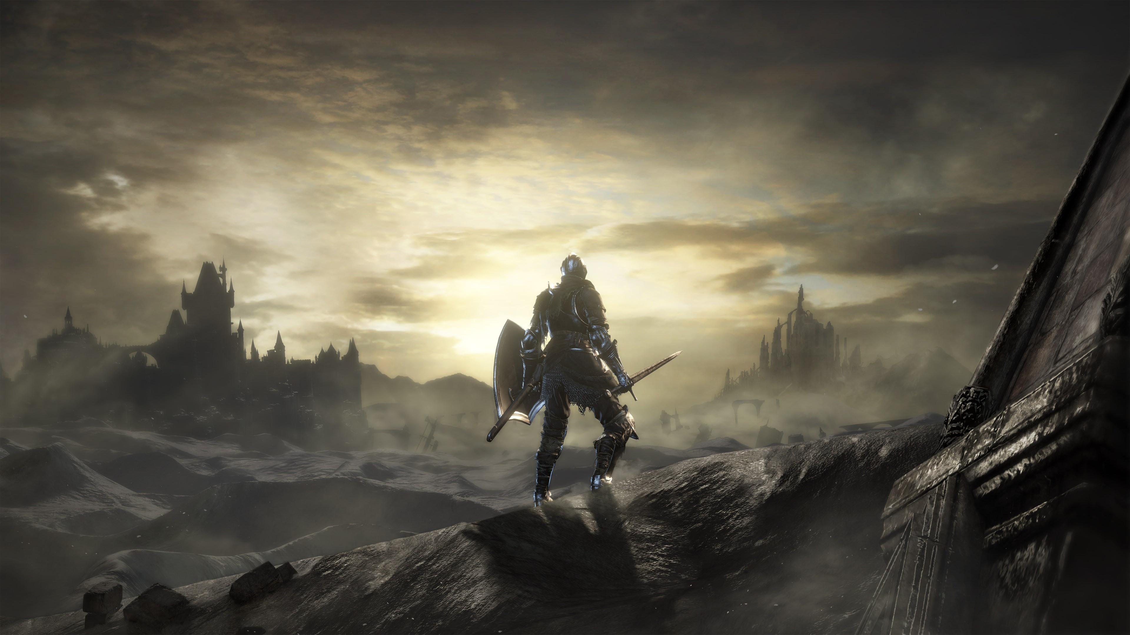 Armor Dark Souls Iii Knight Landscape Warrior 3840x2160