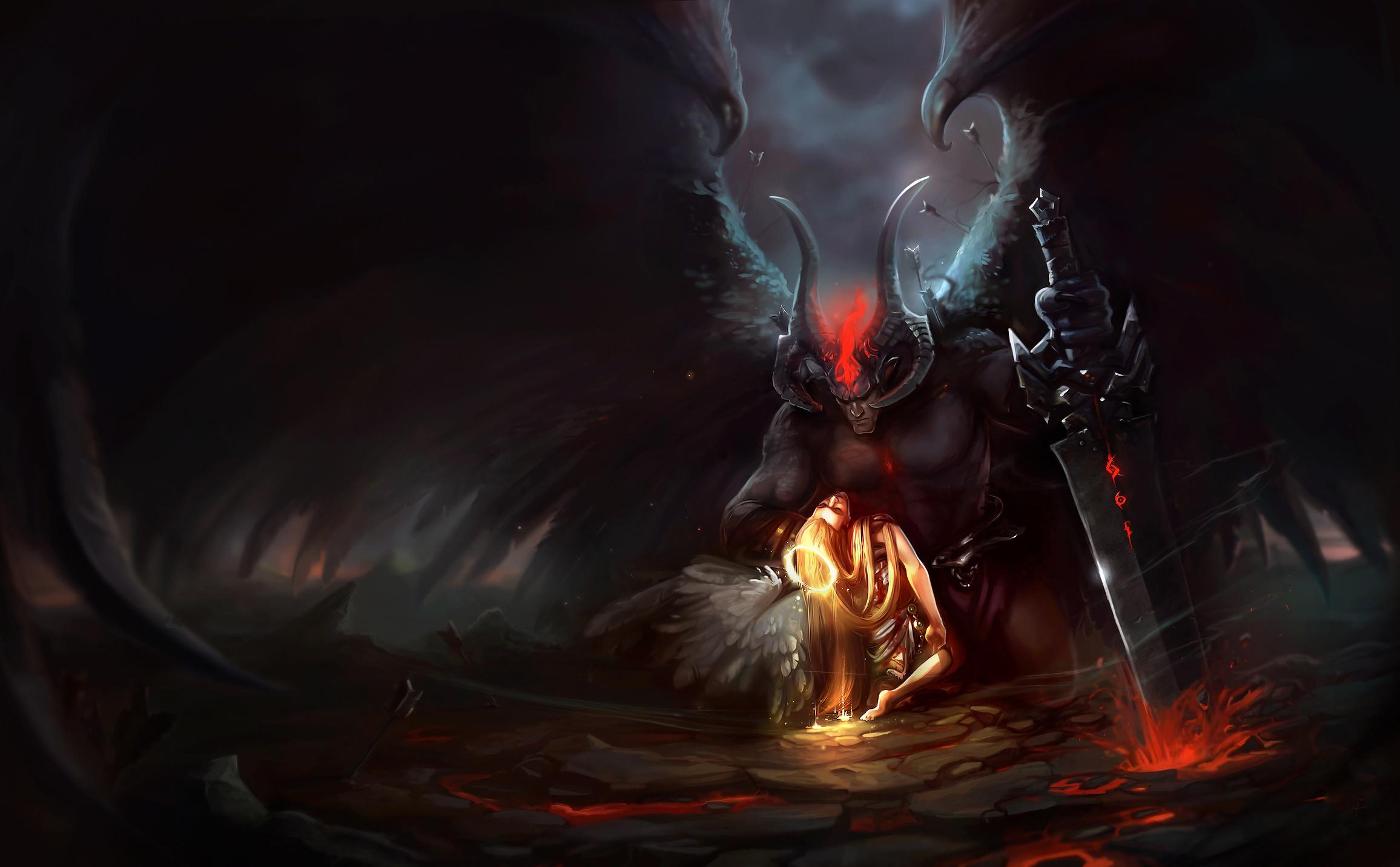 Angel Demon Horns Sword 2312x1431
