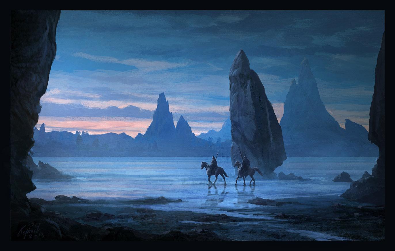 Artwork Digital Art Fantasy Art Mountains Horse 1372x873