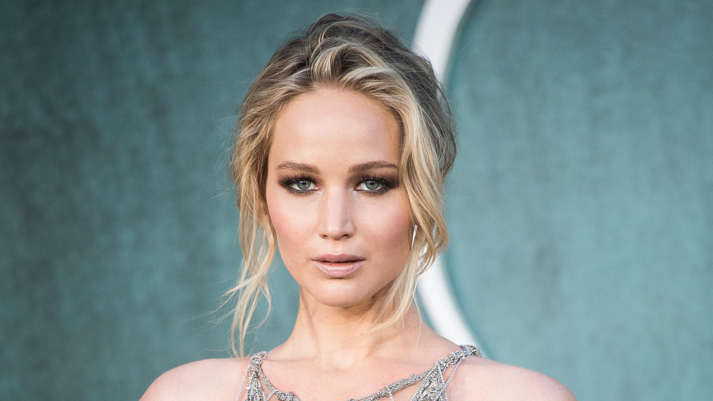 Actress Blonde Blue Eyes Face Jennifer Lawrence 3000x1688