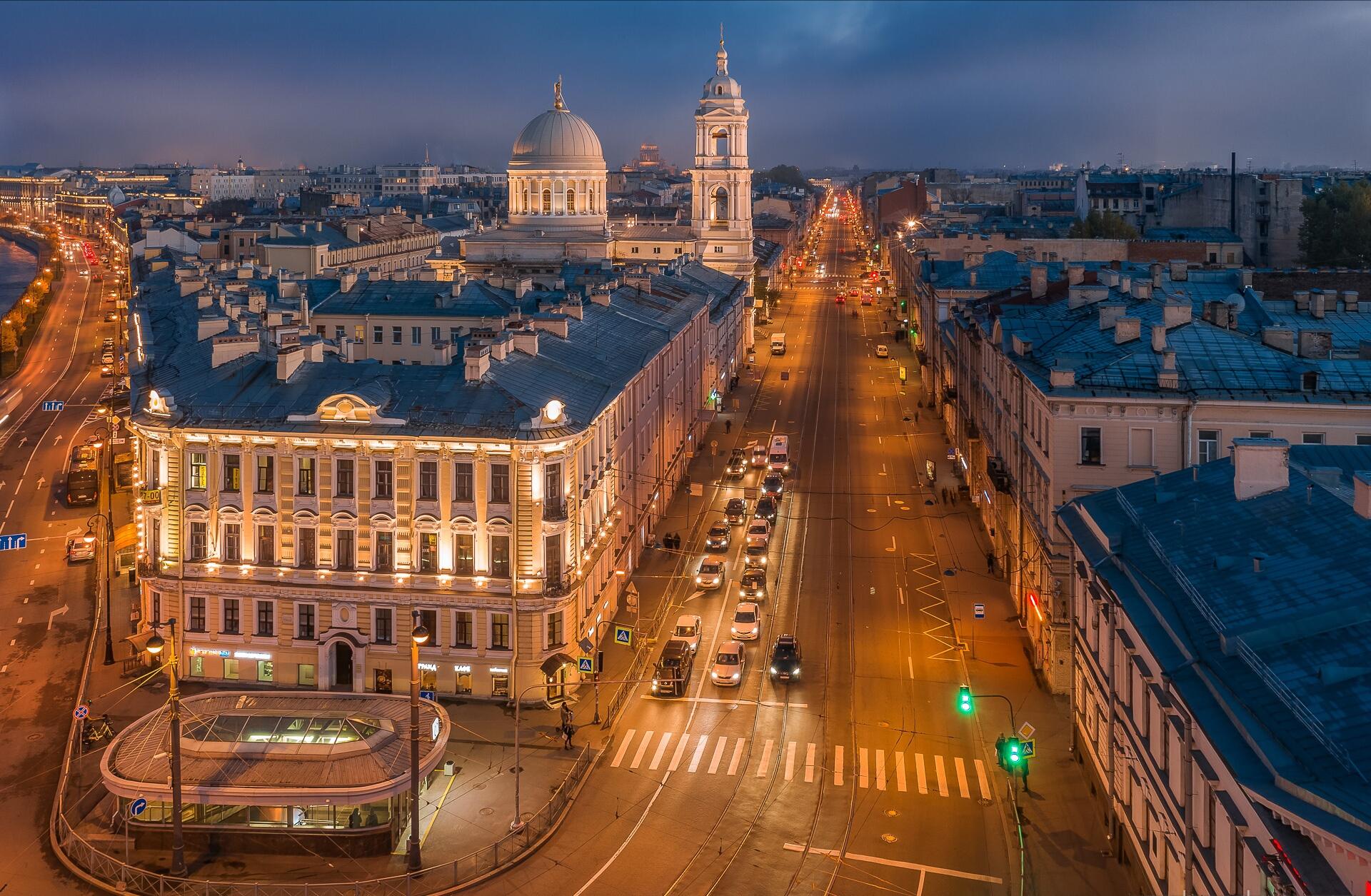 Building City Evening House Road Saint Petersburg 1920x1255