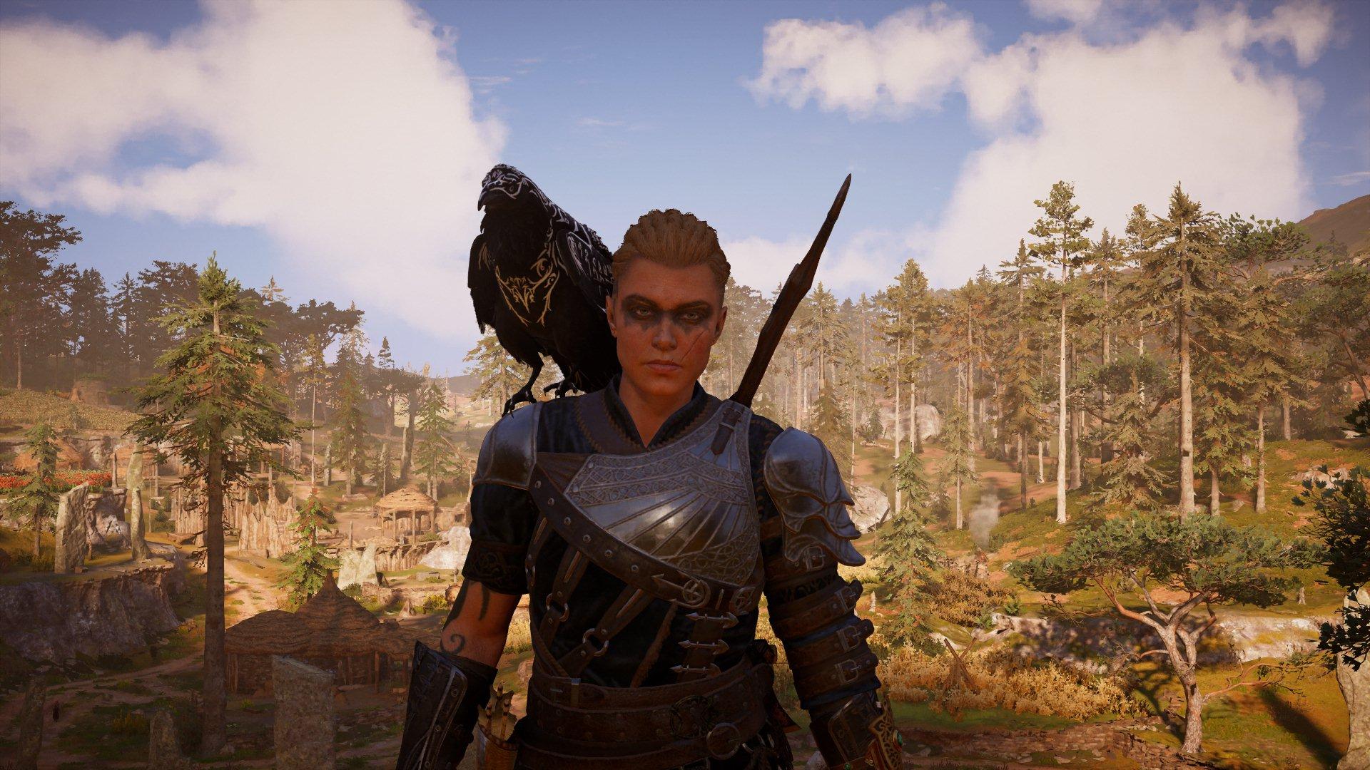 Eivor Assassins Creed Valhalla Tattoo Raven Ubisoft 1920x1080