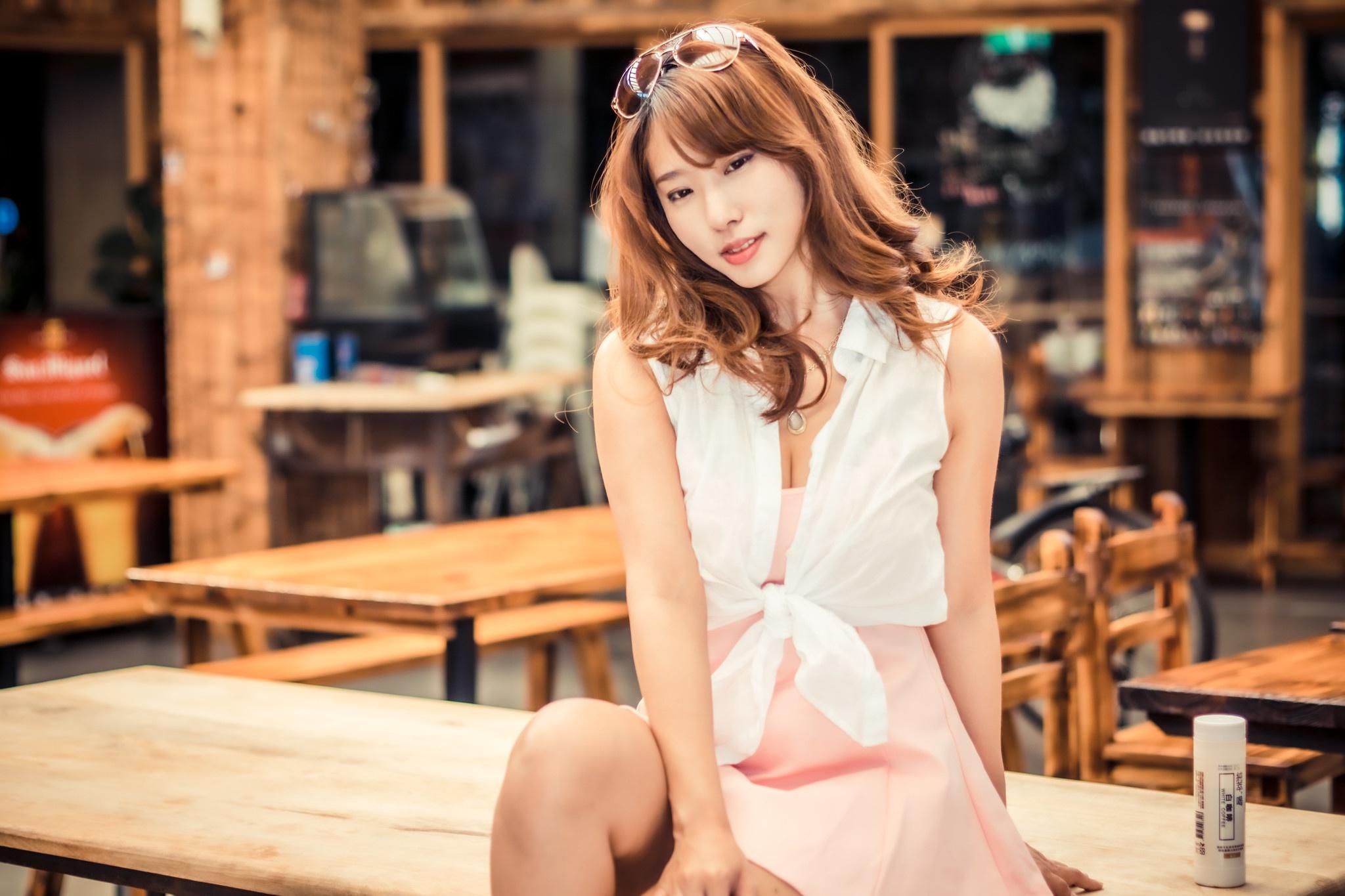 Asian Girl Model Redhead Woman 2048x1365