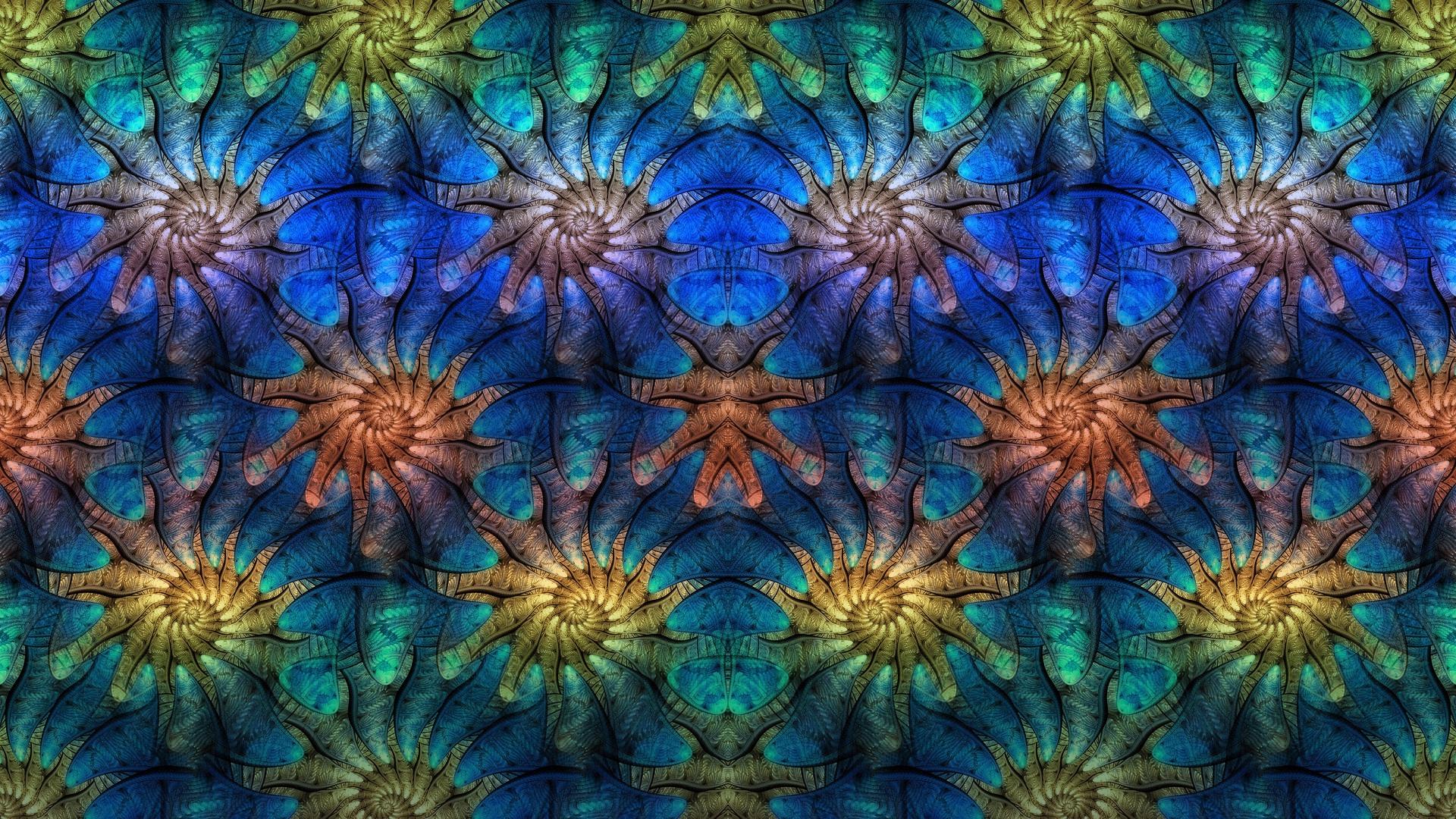 Artistic Colors Digital Art Fractal Pattern 1920x1080