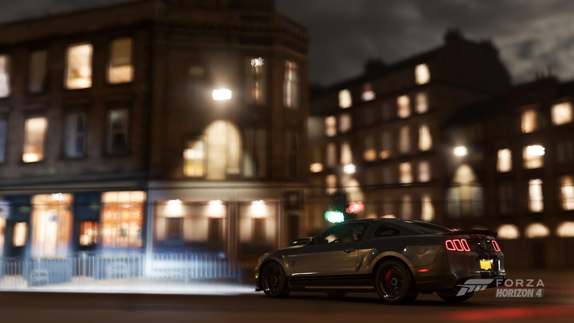 Forza Horizon 4 Ford Mustang Night City Car 1920x1080