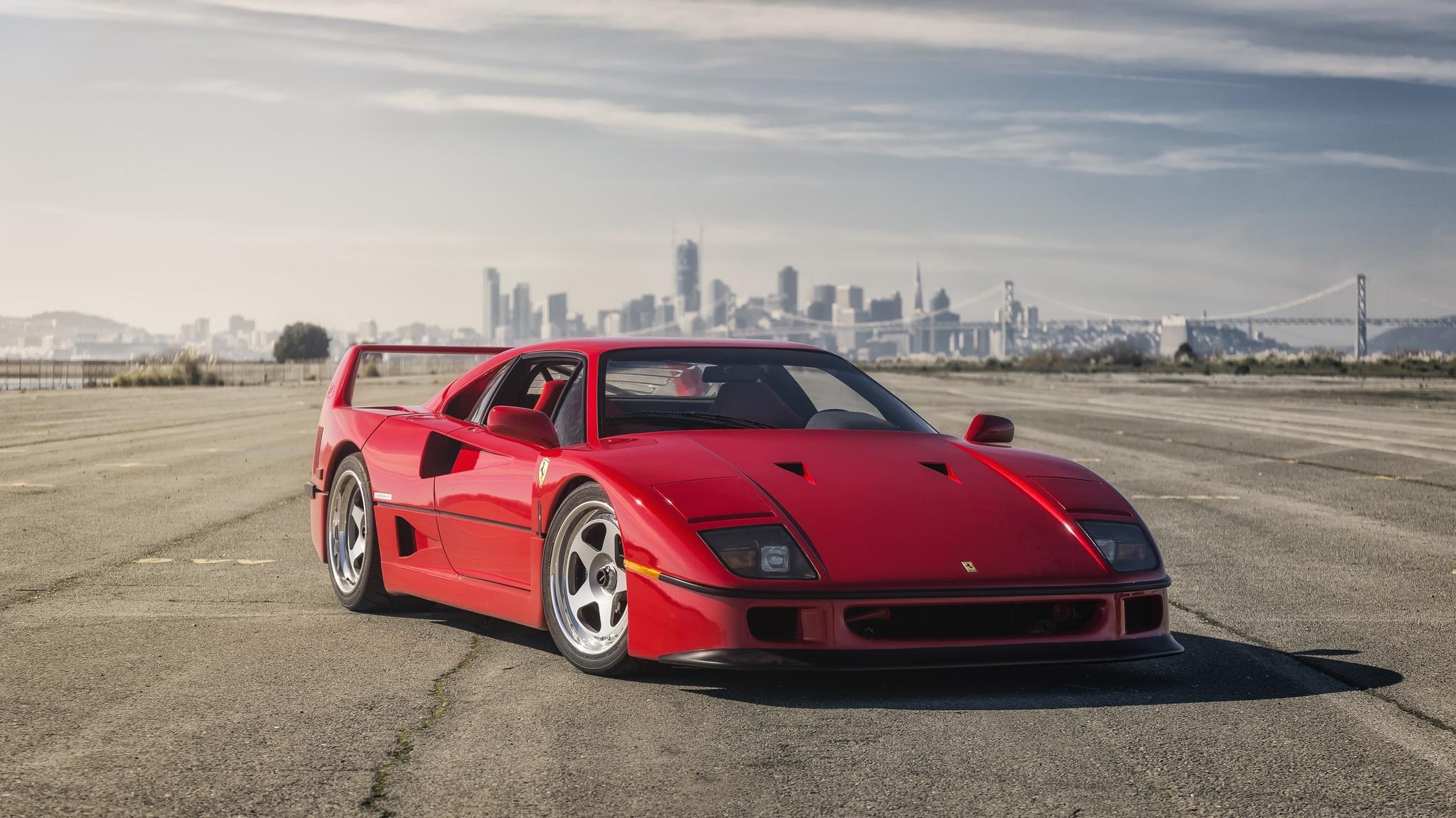 Car Ferrari Ferrari F40 Red Car Sport Car Supercar Vehicle 2048x1152