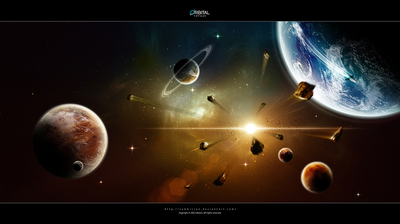 Sci Fi Planets 1366x768
