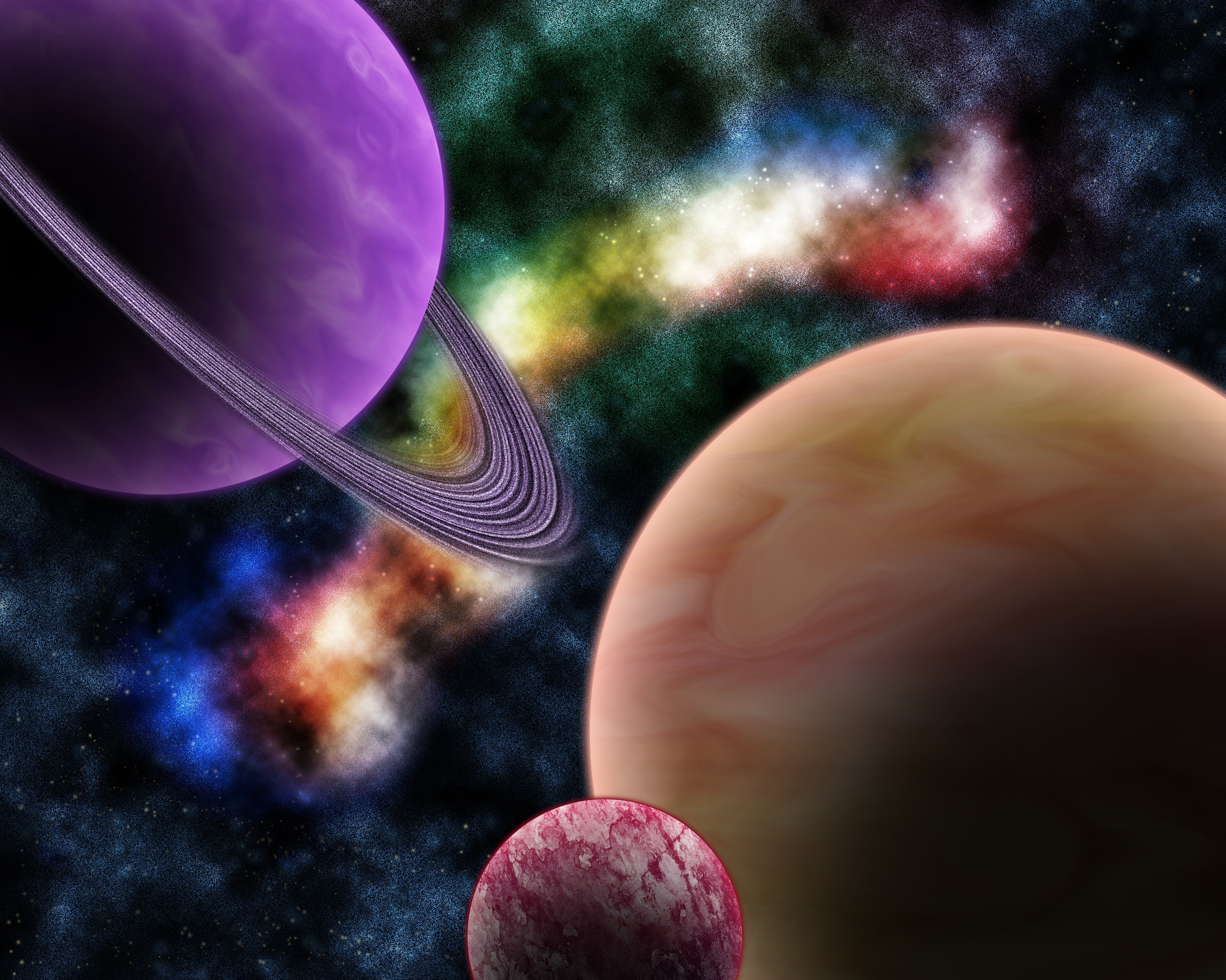 Colorful Colors Planet Sci Fi Space 2560x2048