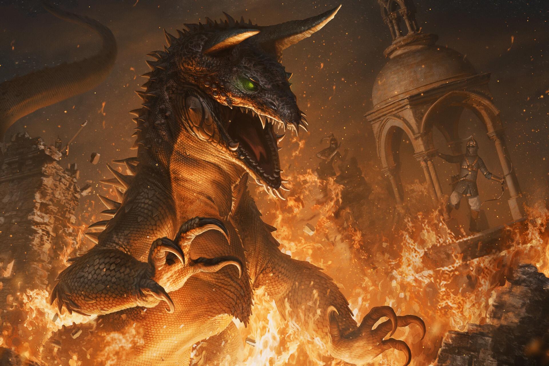 Creature Flame Lizard 1920x1280