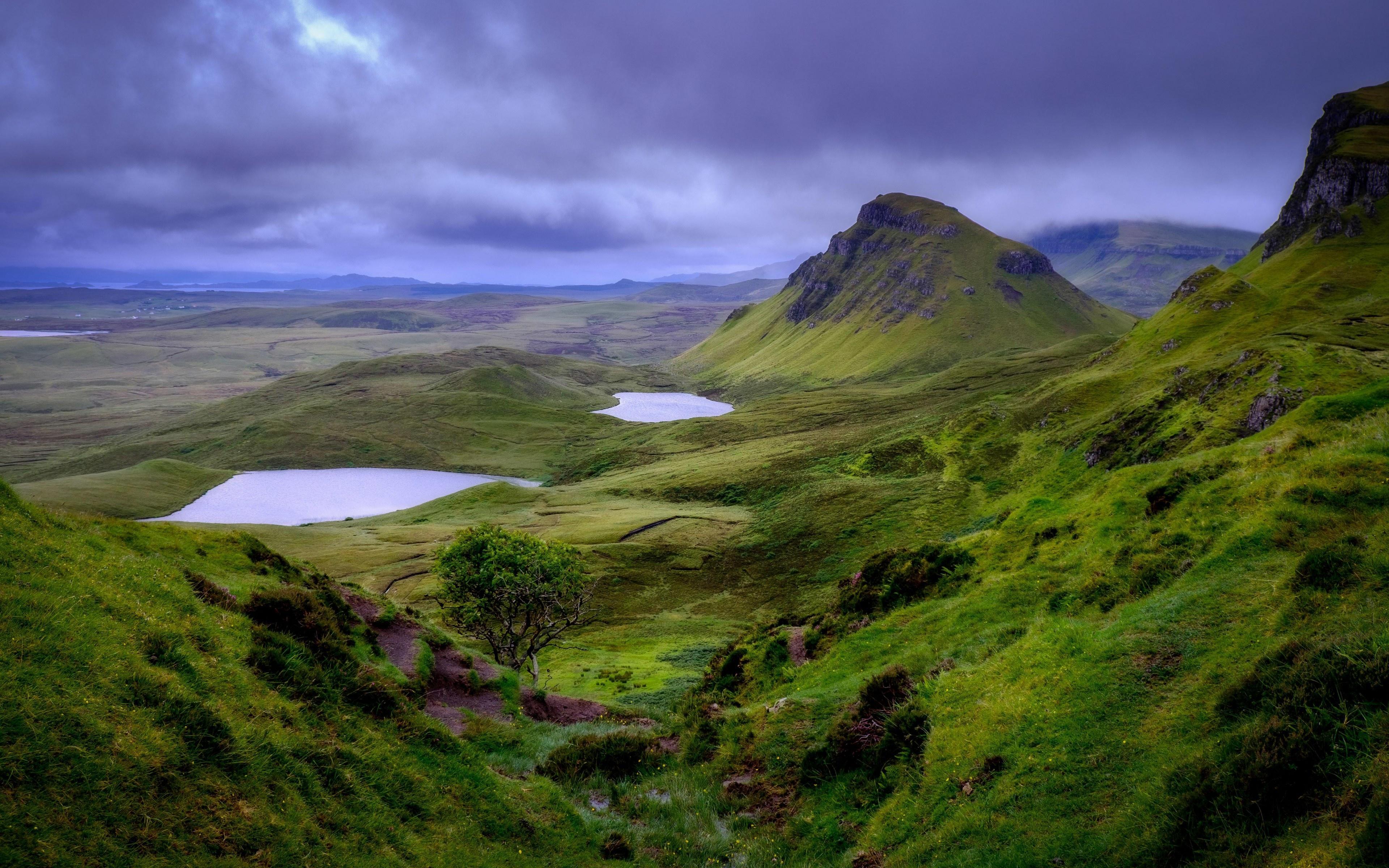 Cloud Hill Nature Rock Scotland Sky 3840x2400