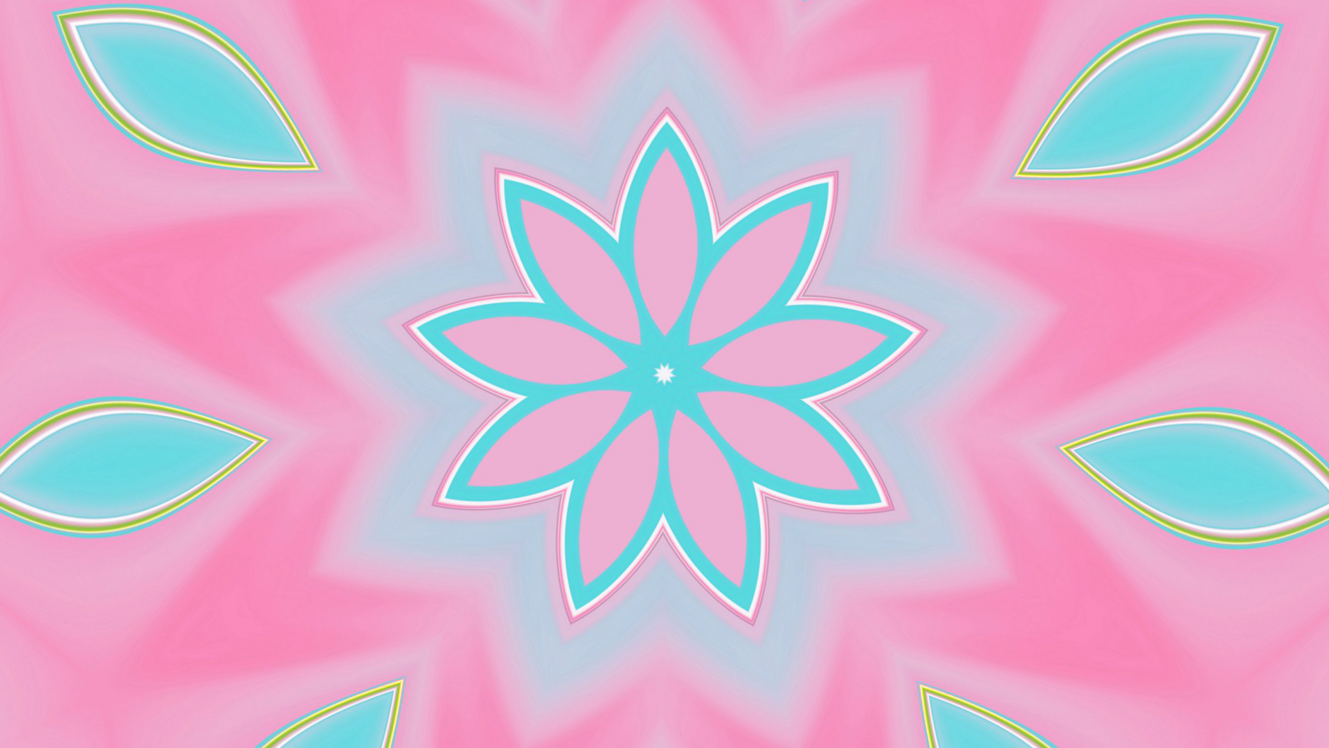 Abstract Artistic Colors Digital Art Gradient Kaleidoscope Pink Shapes 1920x1080