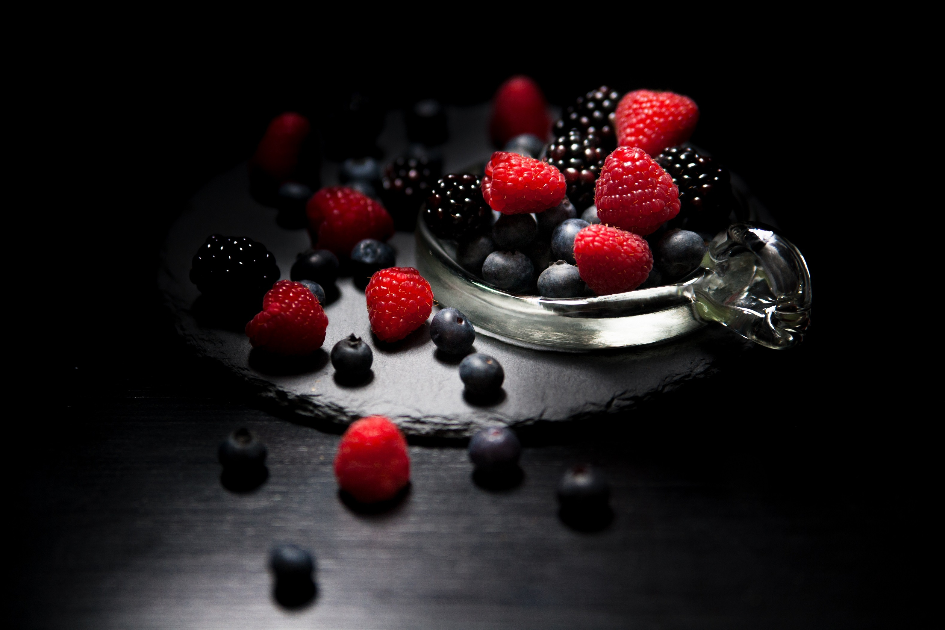 Berry Blackberry Blueberry Fruit Raspberry Still Life 3156x2104