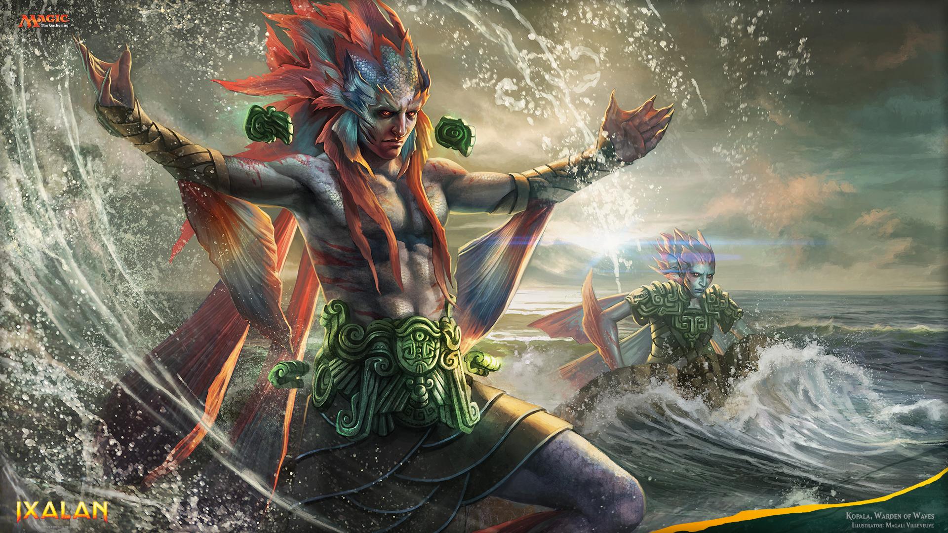Ixalan Magic The Gathering Kopala Magic The Gathering Merfolk Magic The Gathering Warden Of Waves Wi 1920x1080
