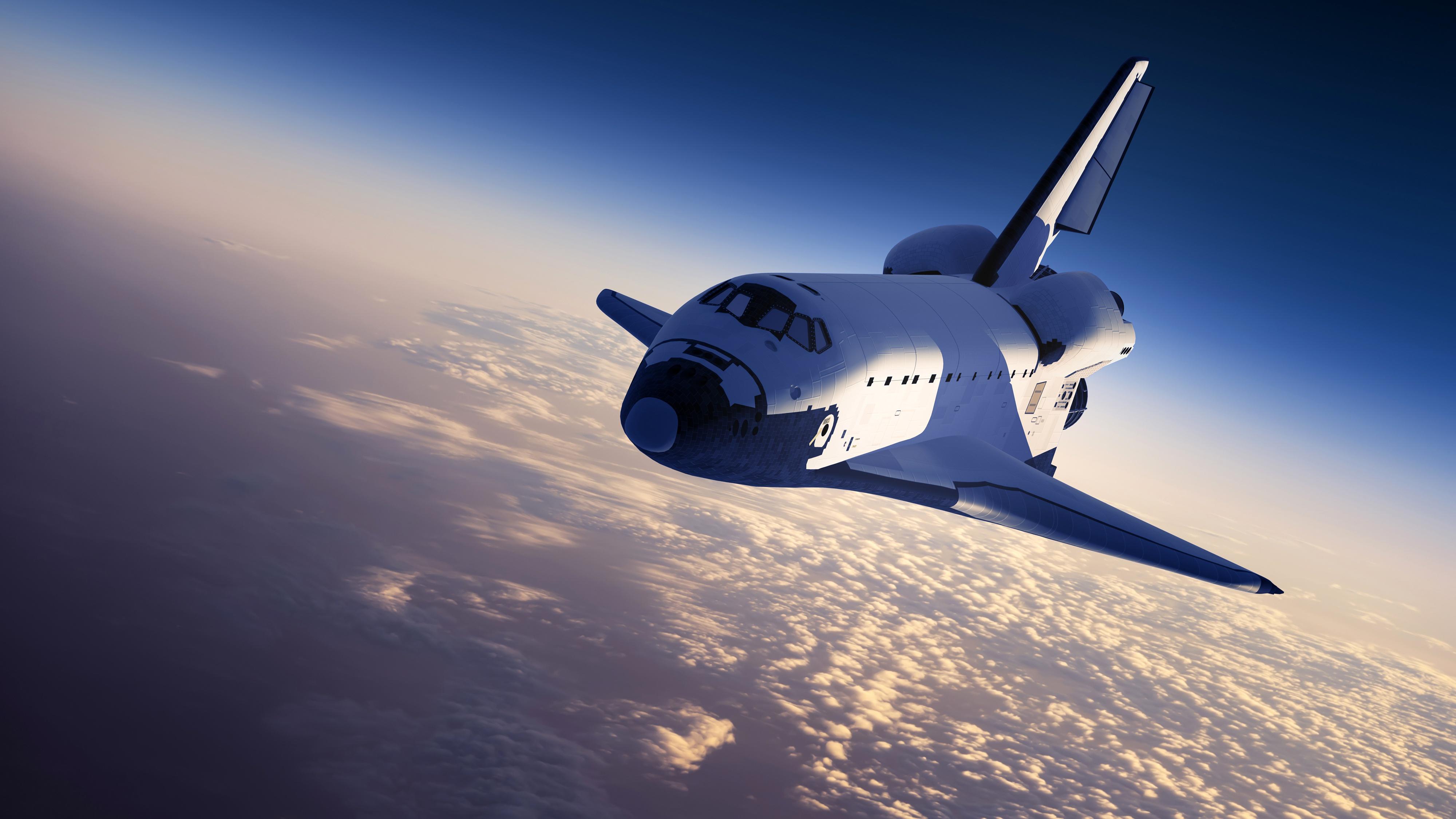 Cloud Space Space Shuttle 4000x2250