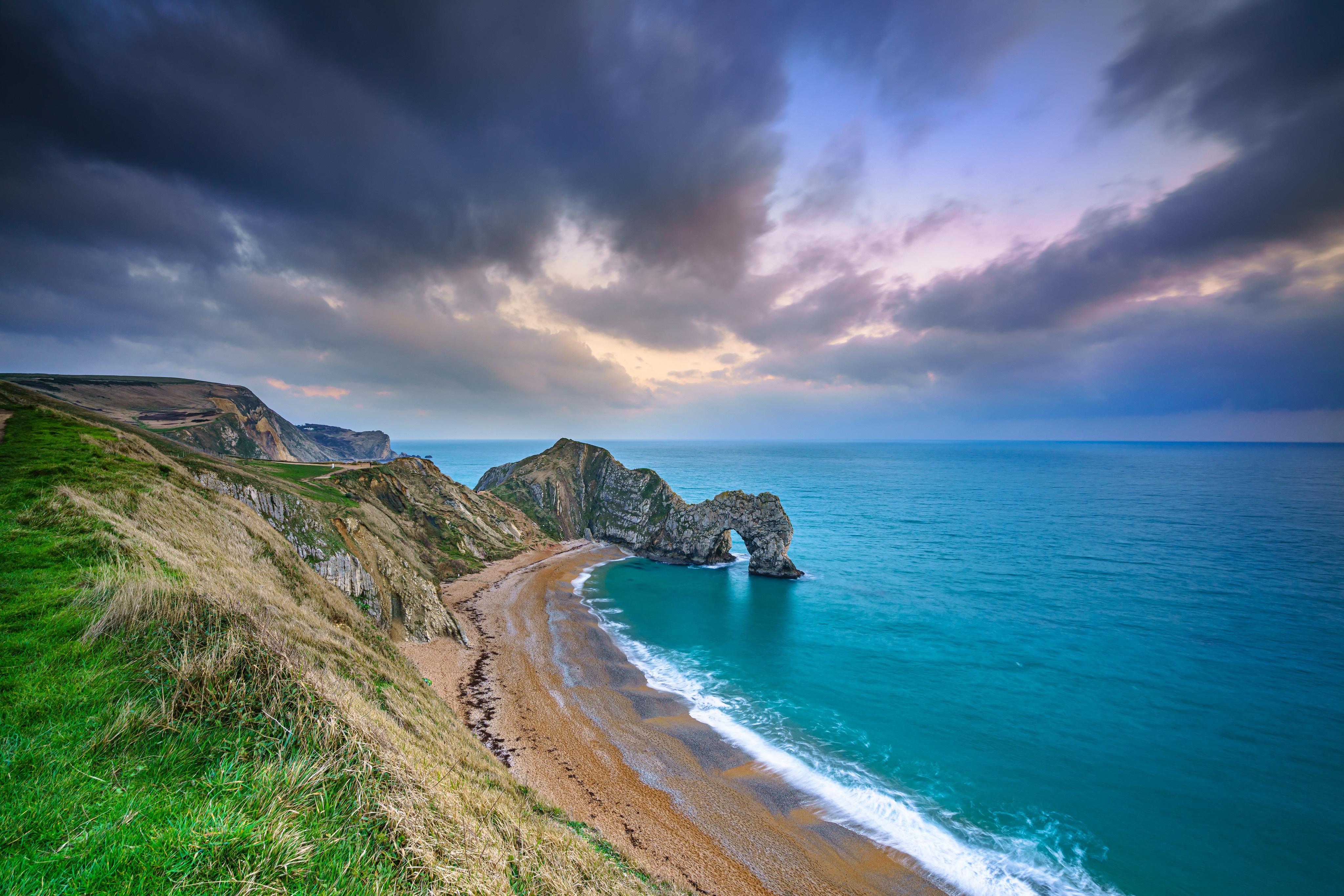 Arch Beach Coast Durdle Door England Horizon Nature 4096x2732