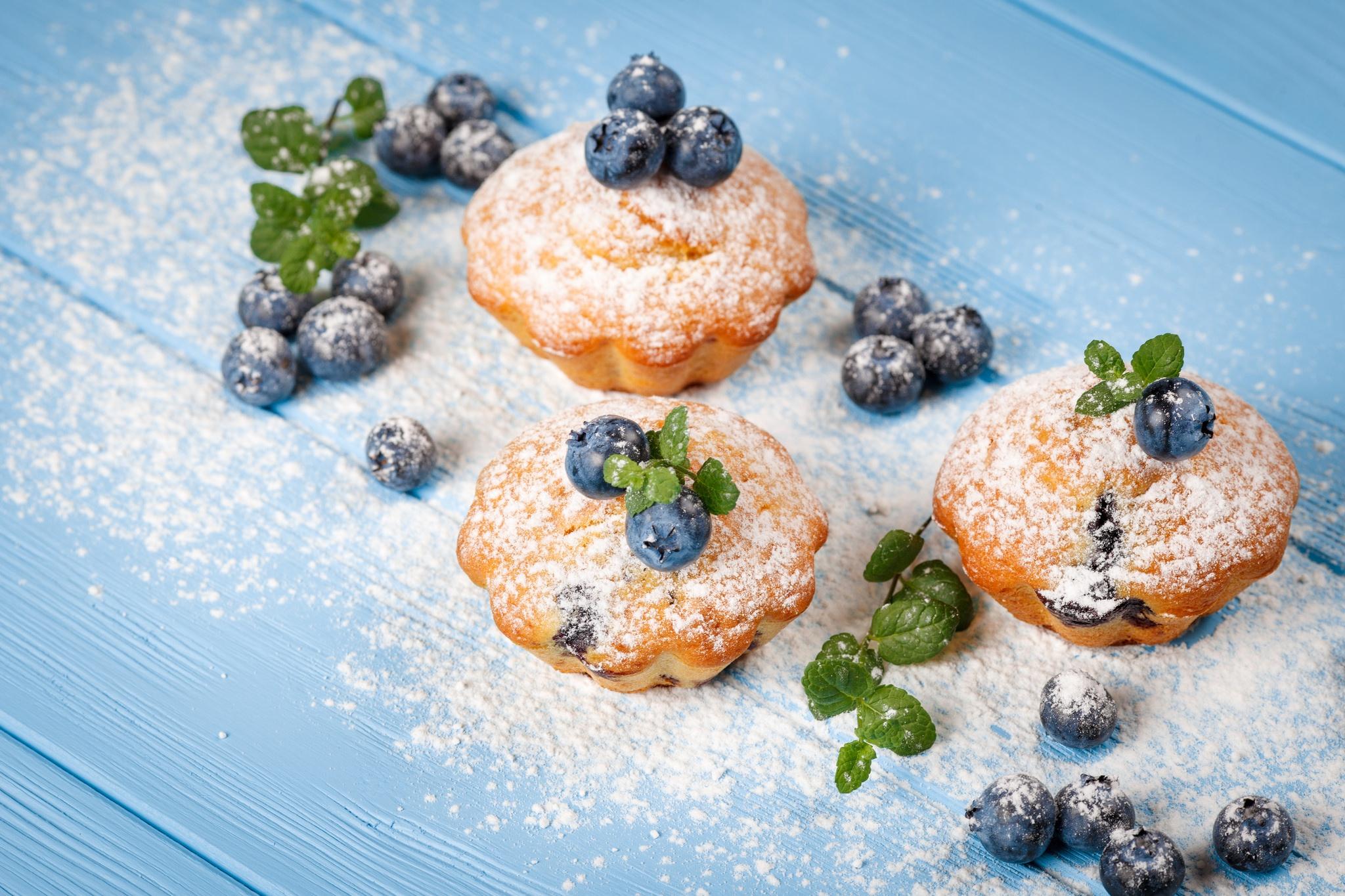 Blueberry Madeleine Pastry Still Life 2048x1365