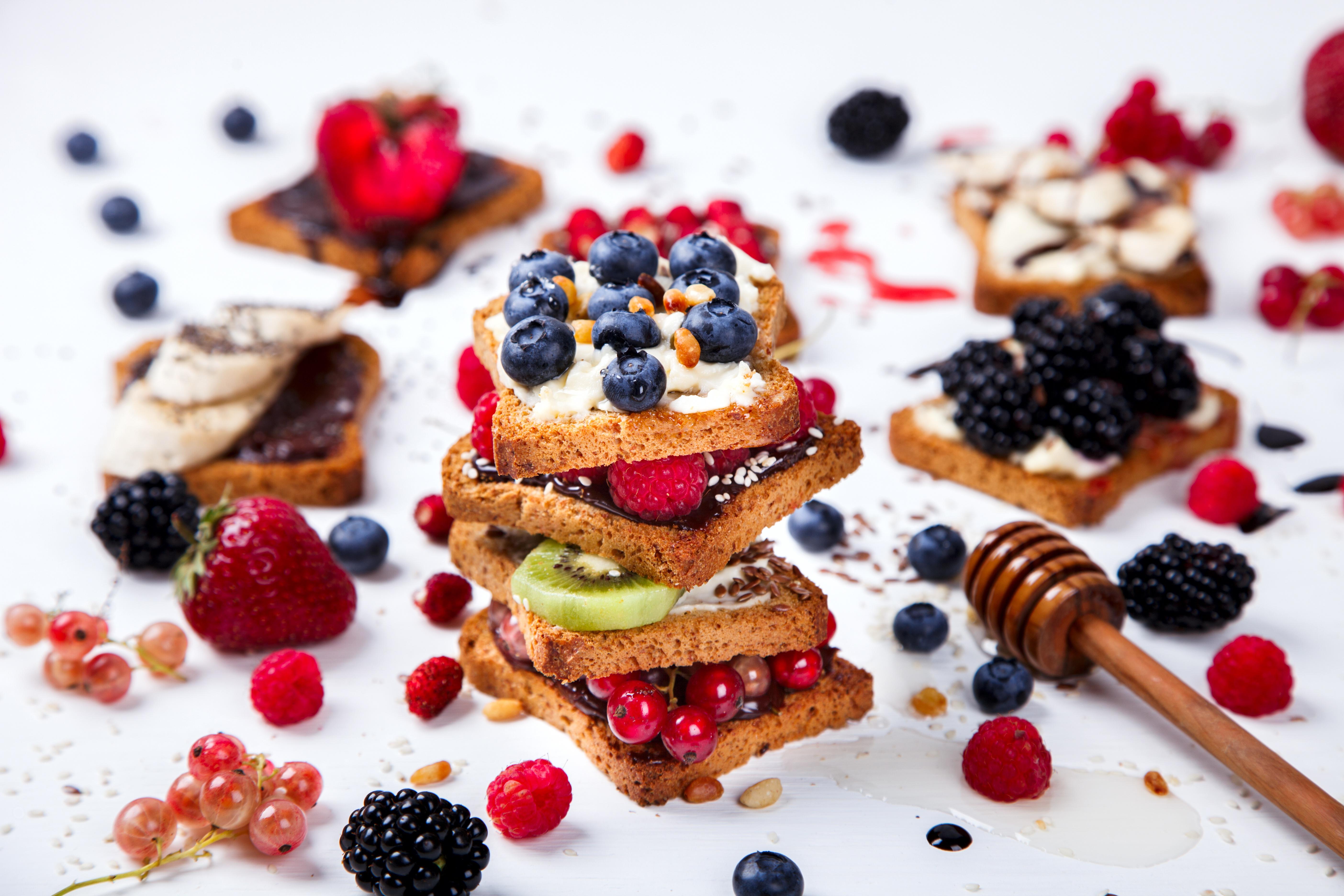 Berry Fruit Still Life Toast 5616x3744