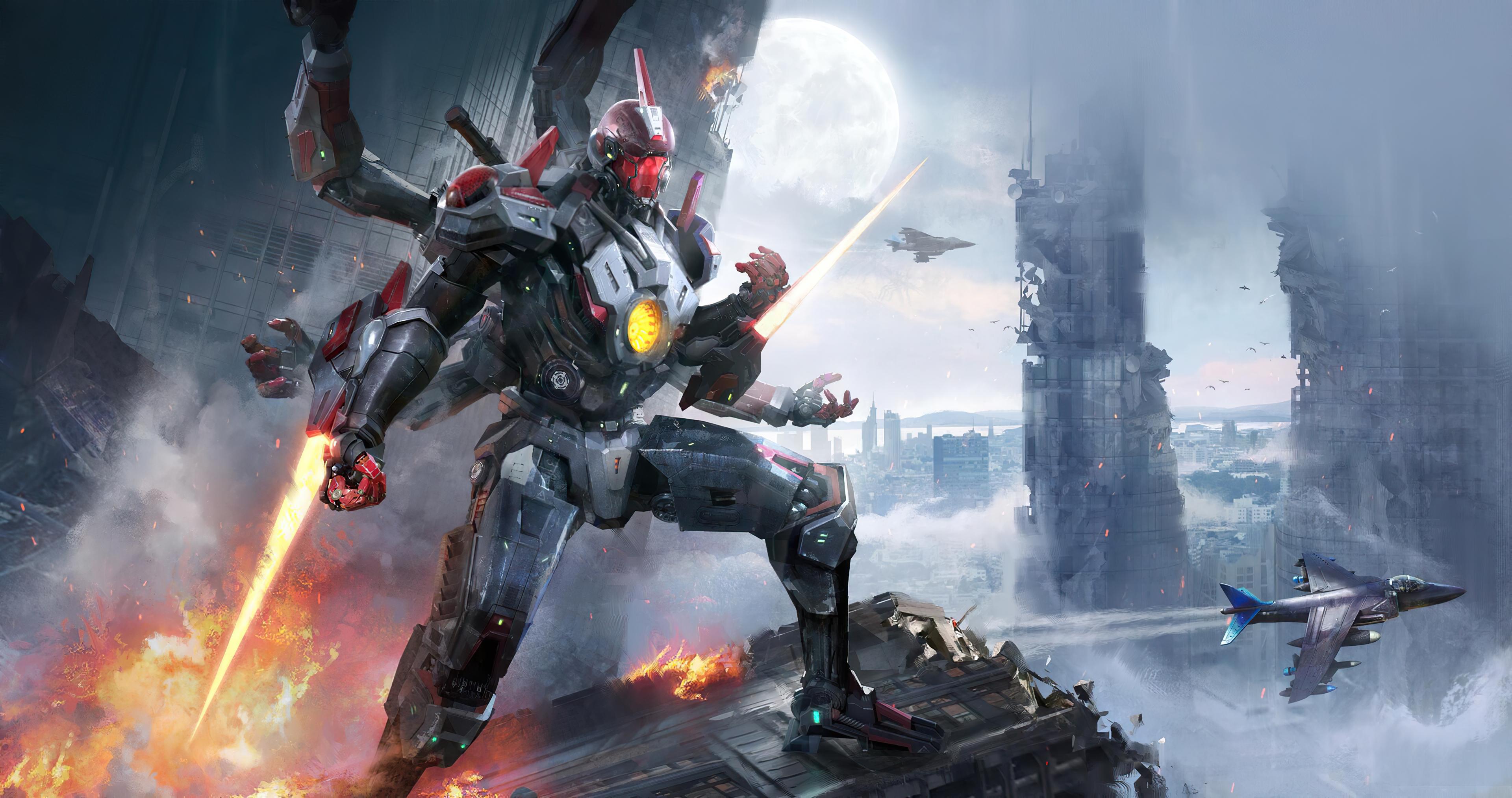Futuristic Robot 3840x2028