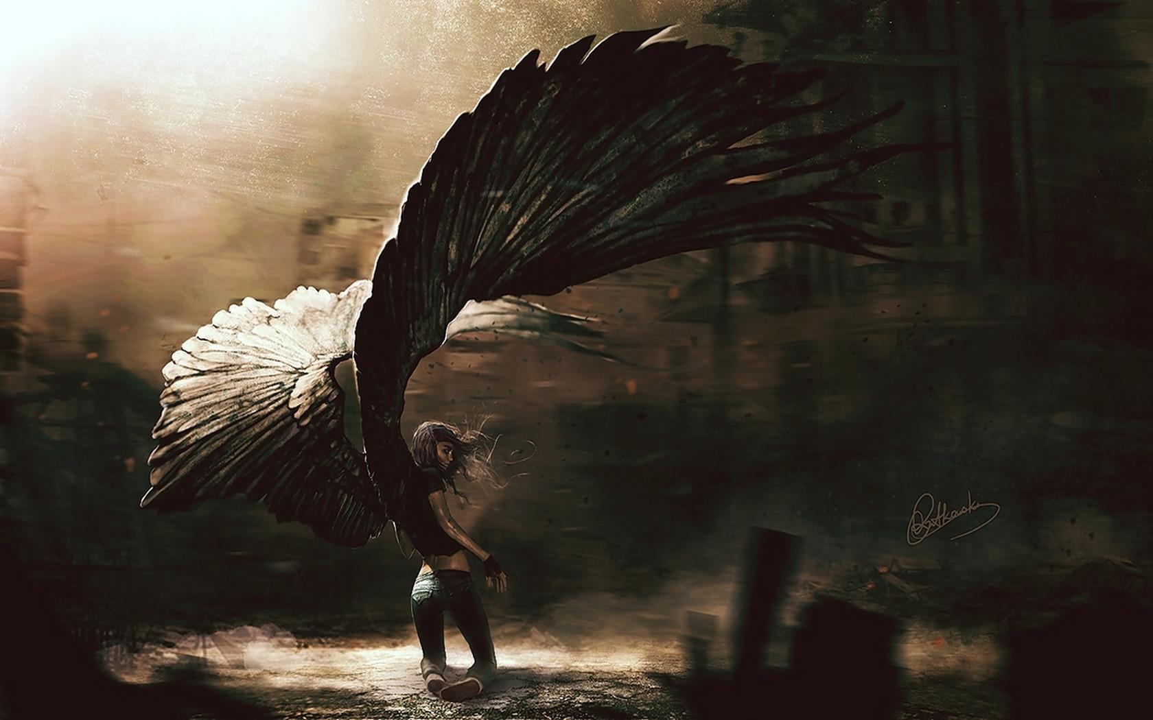 Angel Dark Fantasy 1680x1050