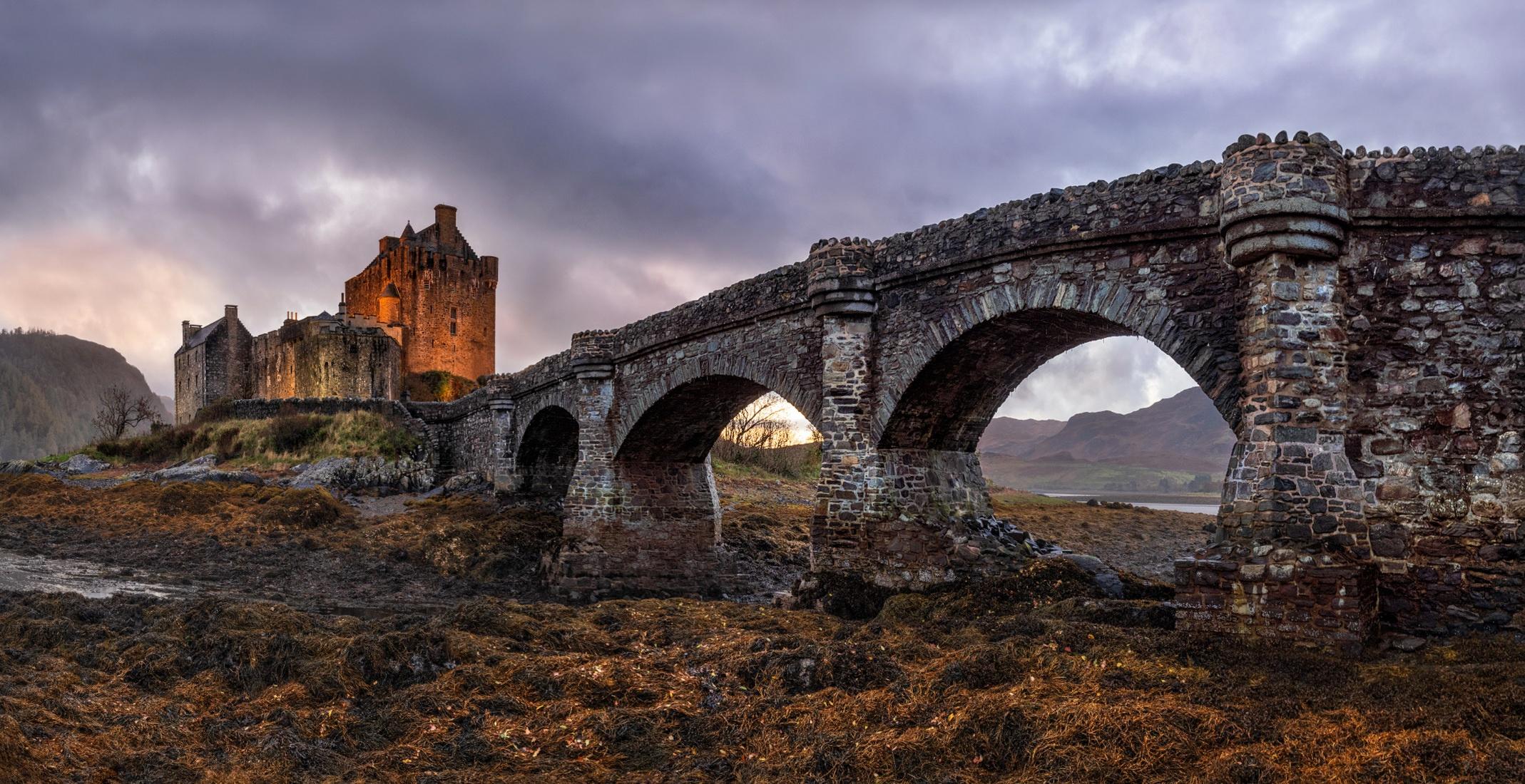 Bridge Castle Eilean Donan Castle Scotland 2138x1100