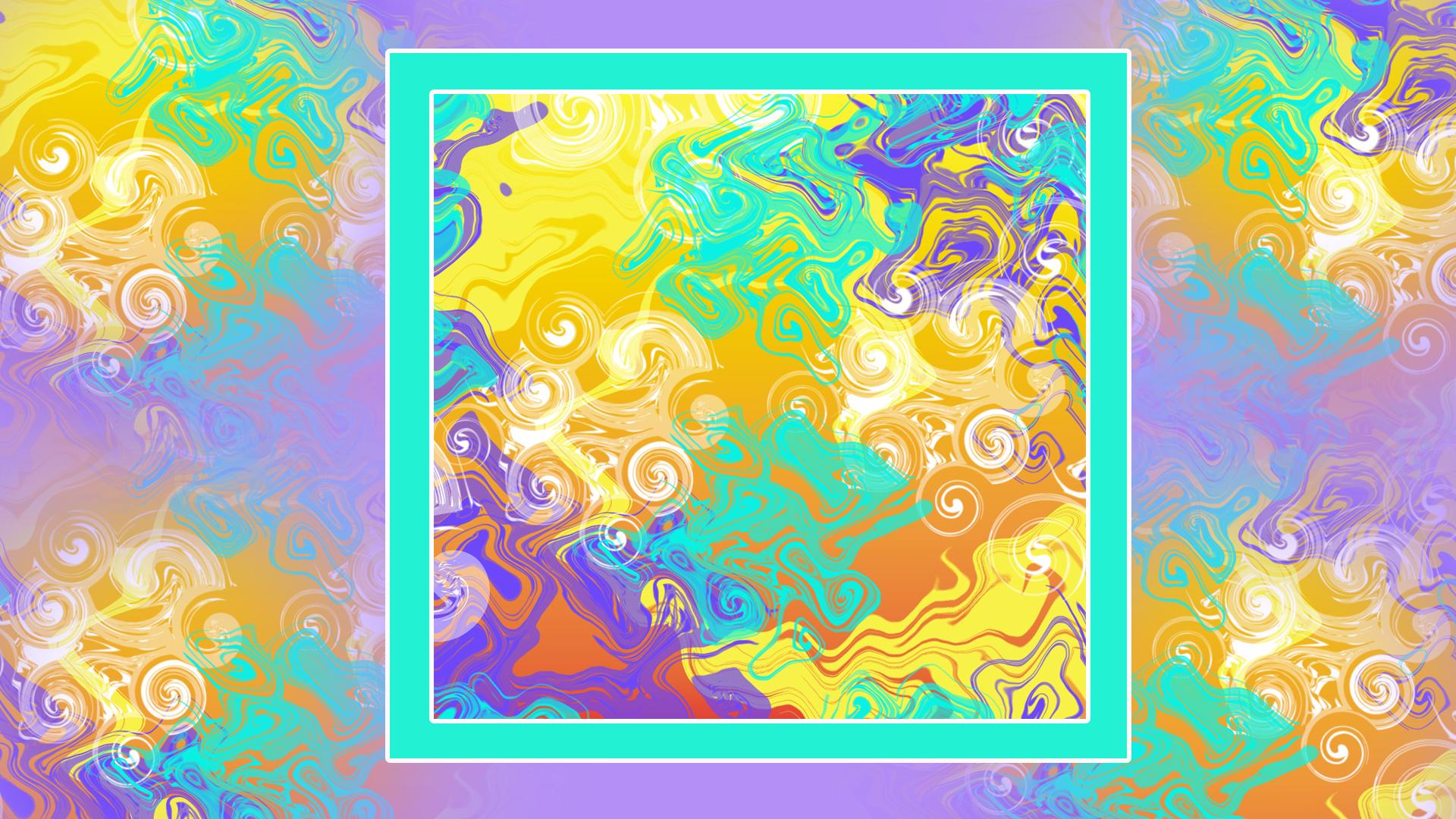 Artistic Colorful Digital Art Distortion Swirl 1920x1080