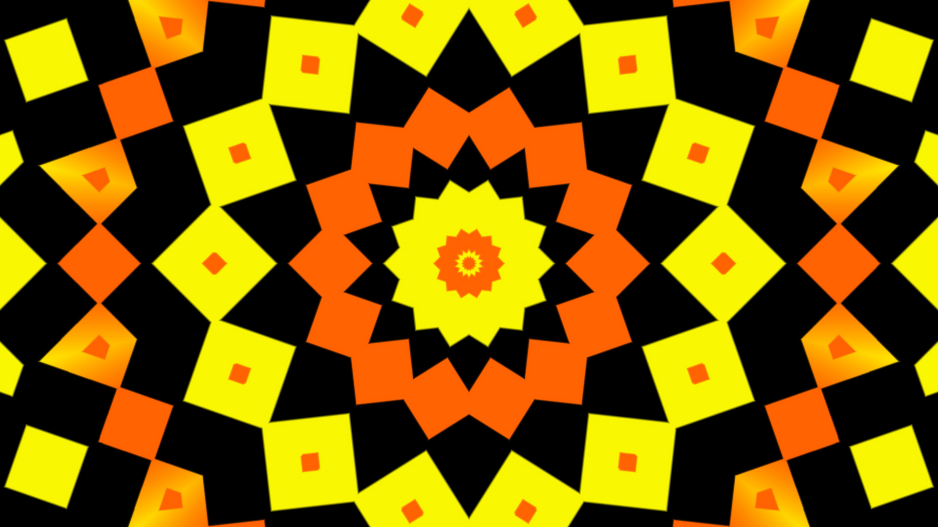 Abstract Colorful Digital Art Geometry Shapes Yellow Orange Color 1920x1080