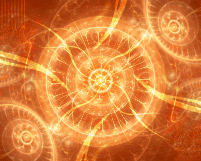 Circle Pattern Orange Color 3000x2400