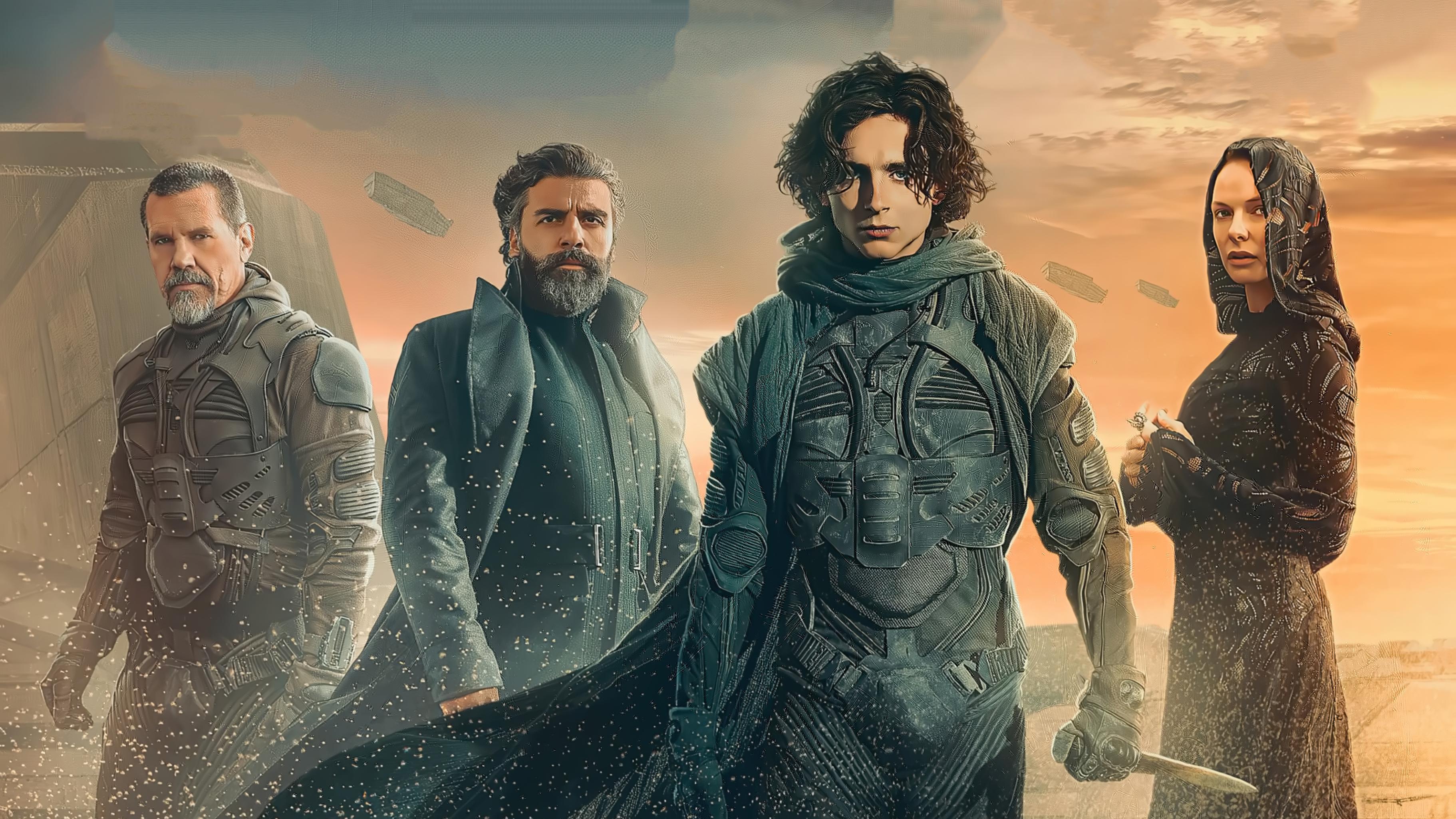 Dune 2020 Movie Josh Brolin Oscar Isaac Timothee Chalamet 3645x2050