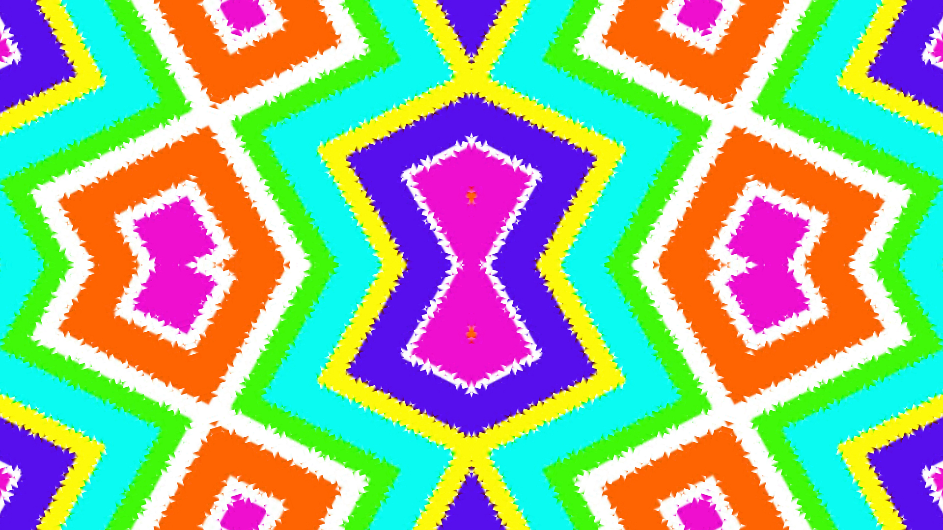 Blue Colorful Digital Art Geometry Green Shapes White Yellow Orange Color 1920x1080