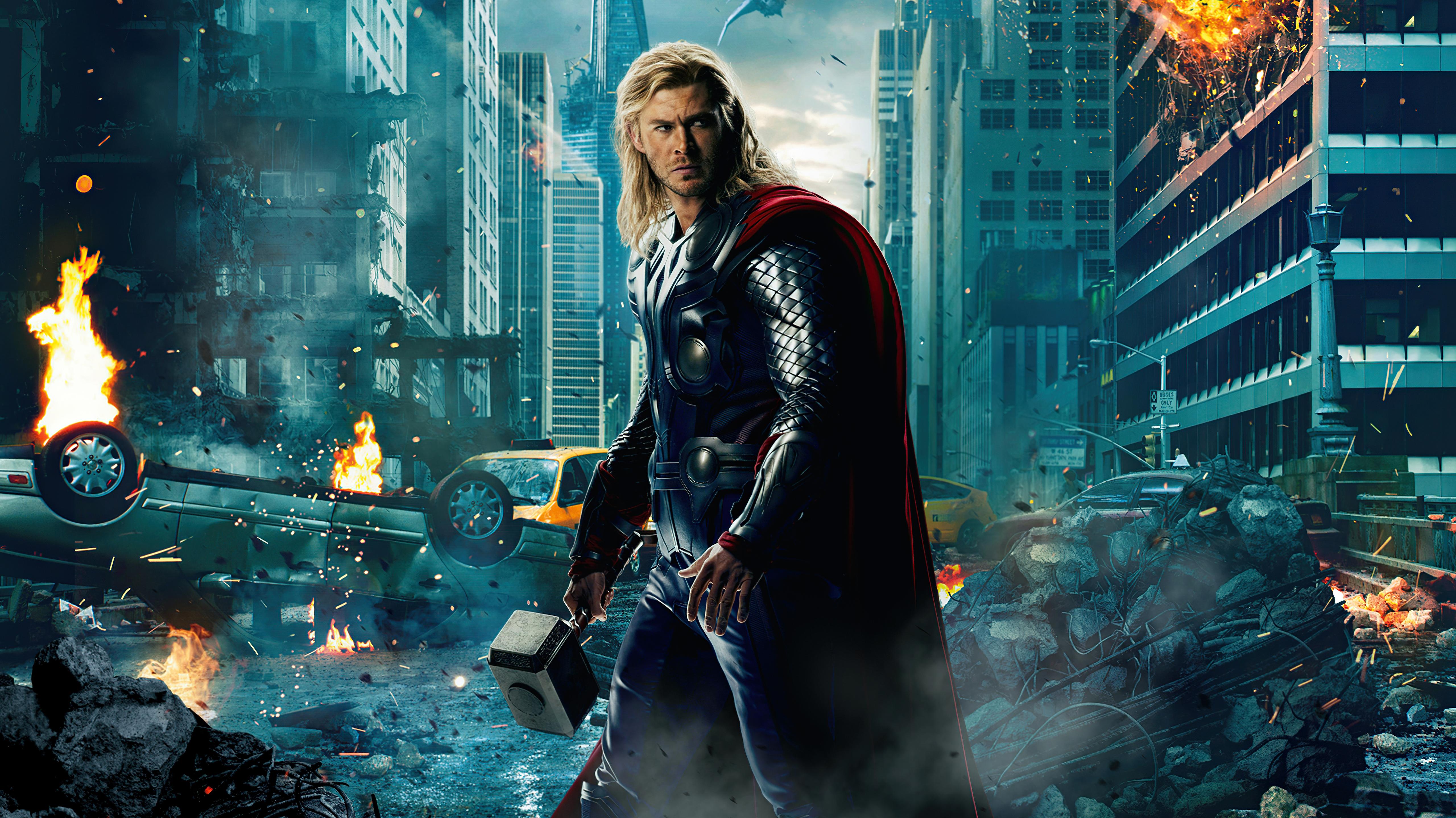 Avengers Chris Hemsworth Thor 5120x2880