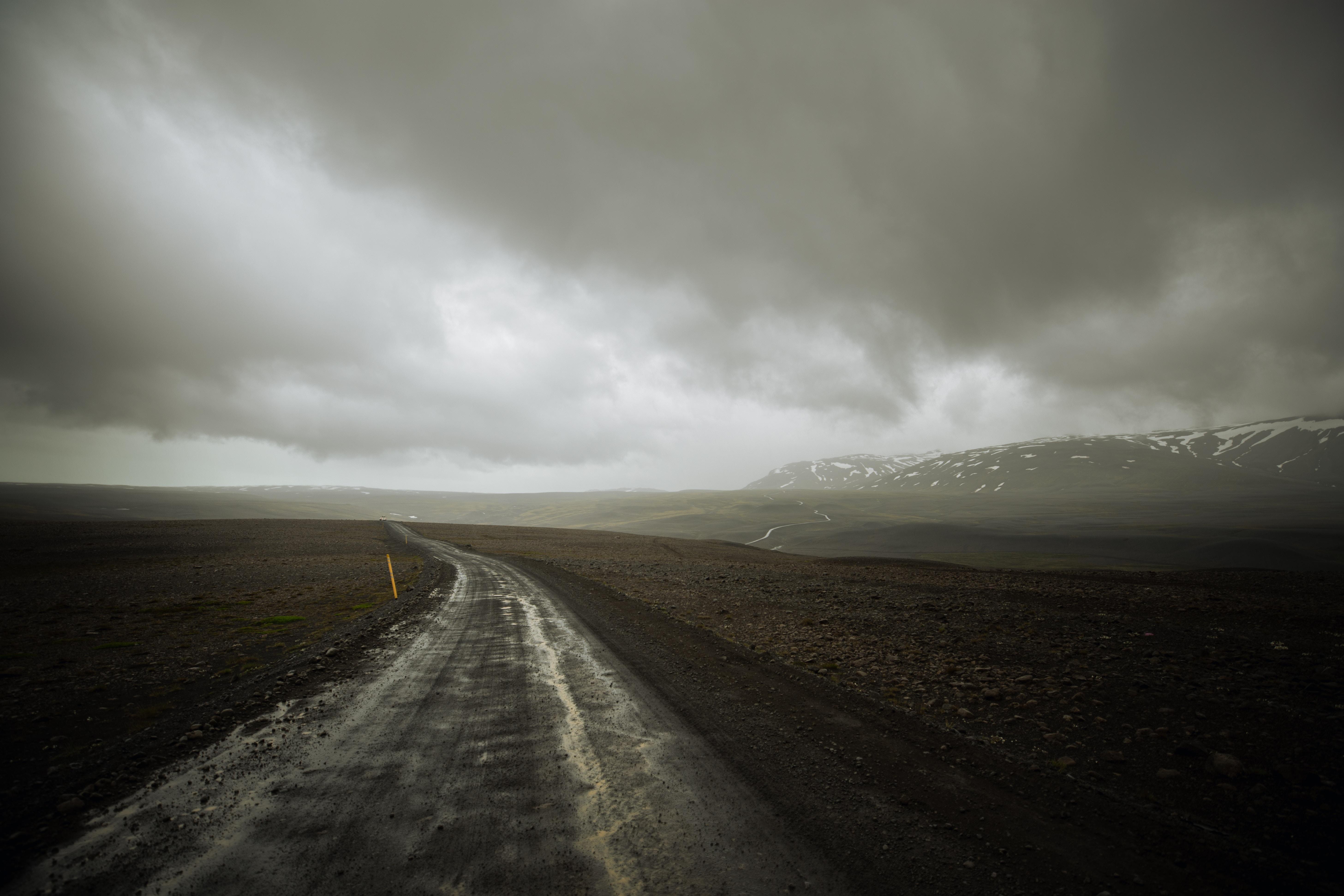 Cloud Iceland Landscape Mountain Road 5826x3884