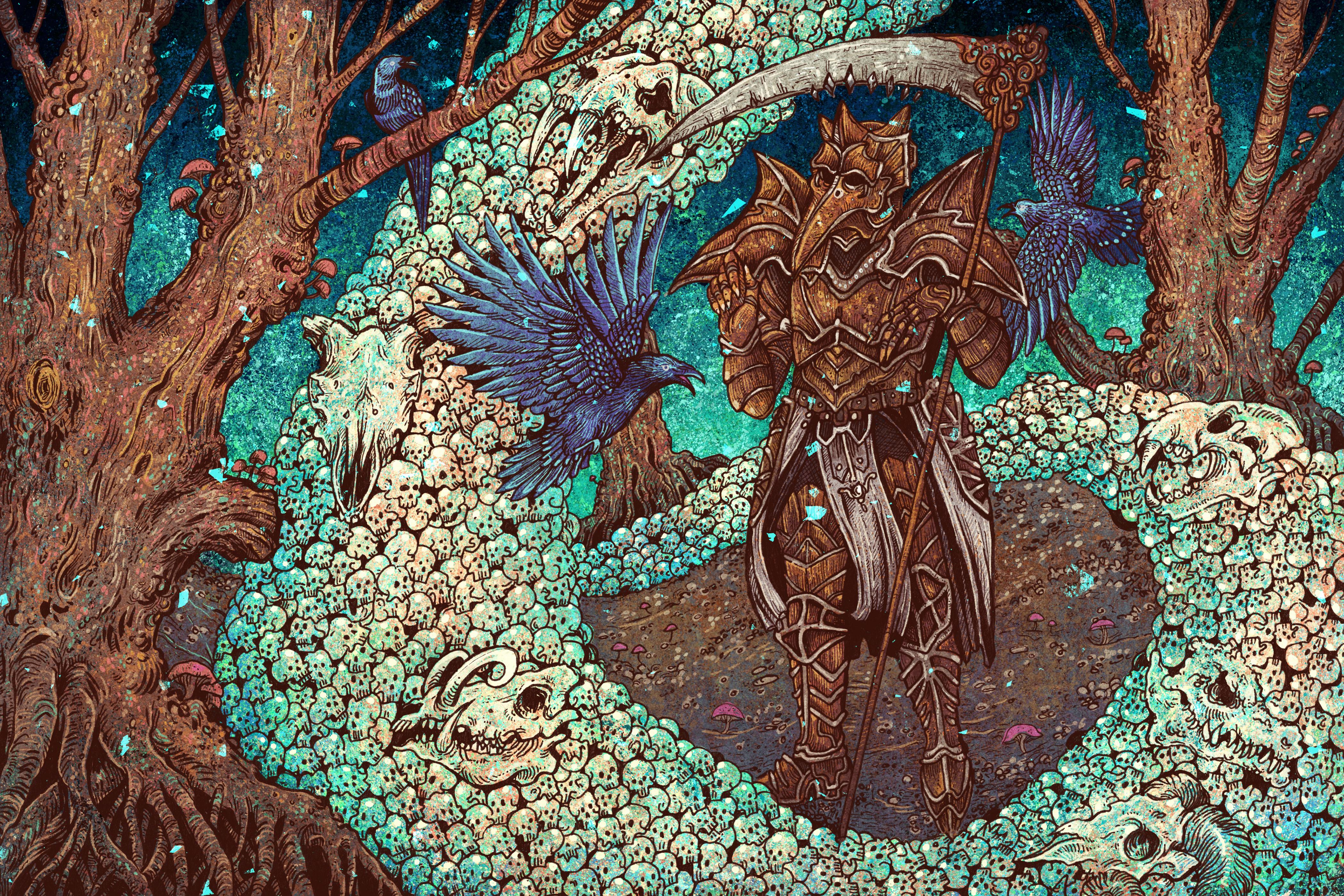 Armor Diablo Iii Necromancer Diablo Iii Scythe Skull 4199x2800