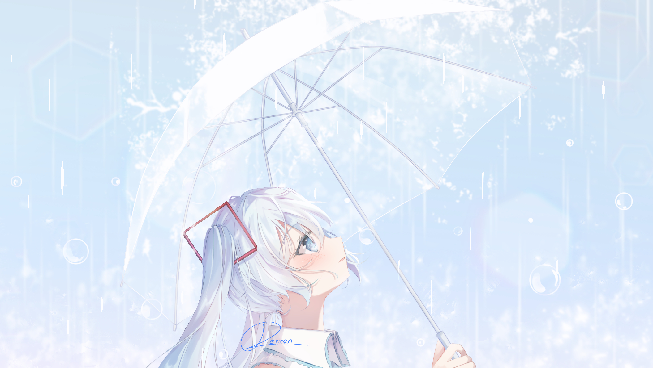 Hatsune Miku Rain Umbrella 2111x1192