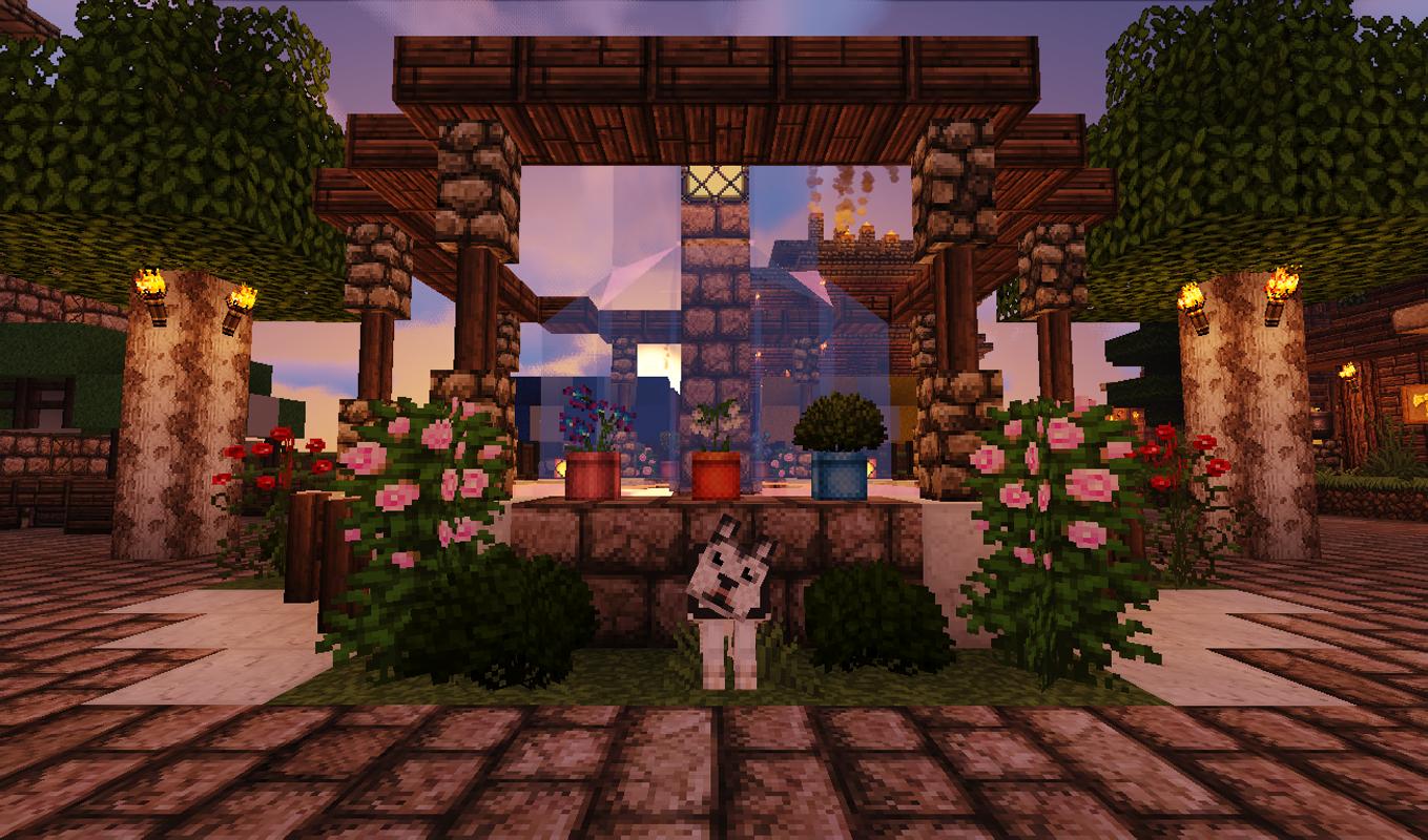 Minecraft Minecraft Nether Landscape Building Lava Bridge Nature Plants Flowers Sky Colorful Green P 1359x800