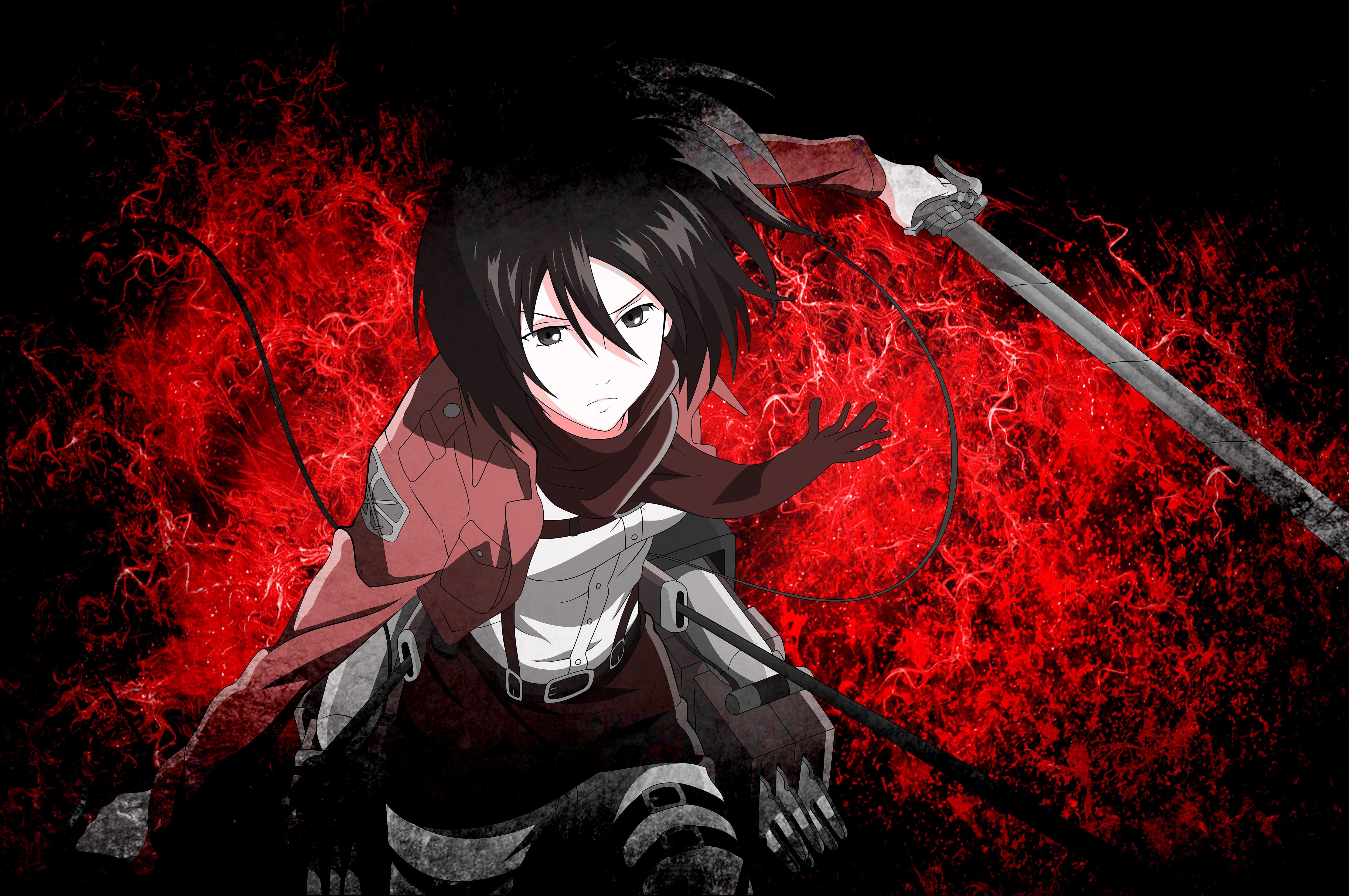 Attack On Titan Mikasa Ackerman 5000x3321