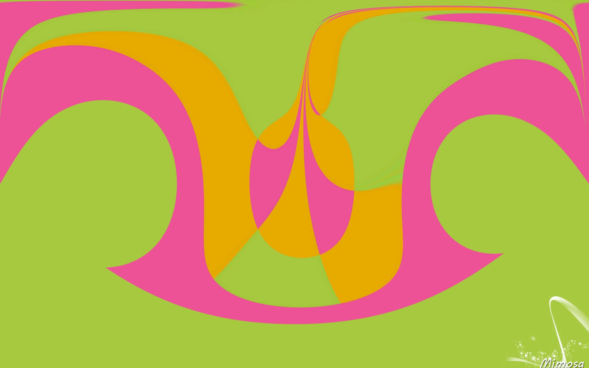 Abstract Artistic Colorful Digital Art Green Shapes 1920x1200