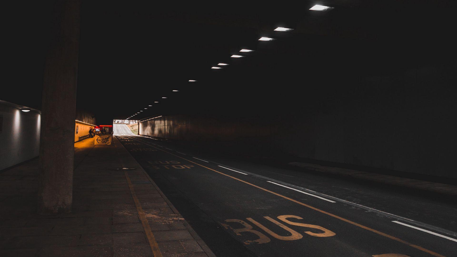 Tunnel Road Underground Dark 1920x1080