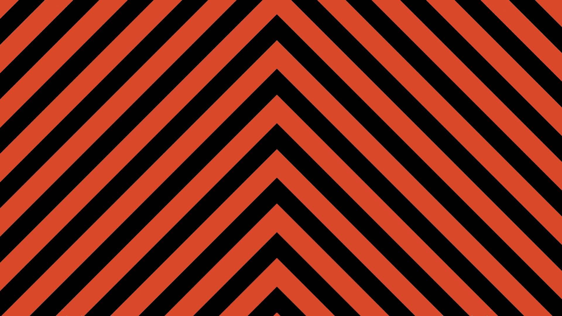 Black Digital Art Geometry Stripes Orange Color 1920x1080