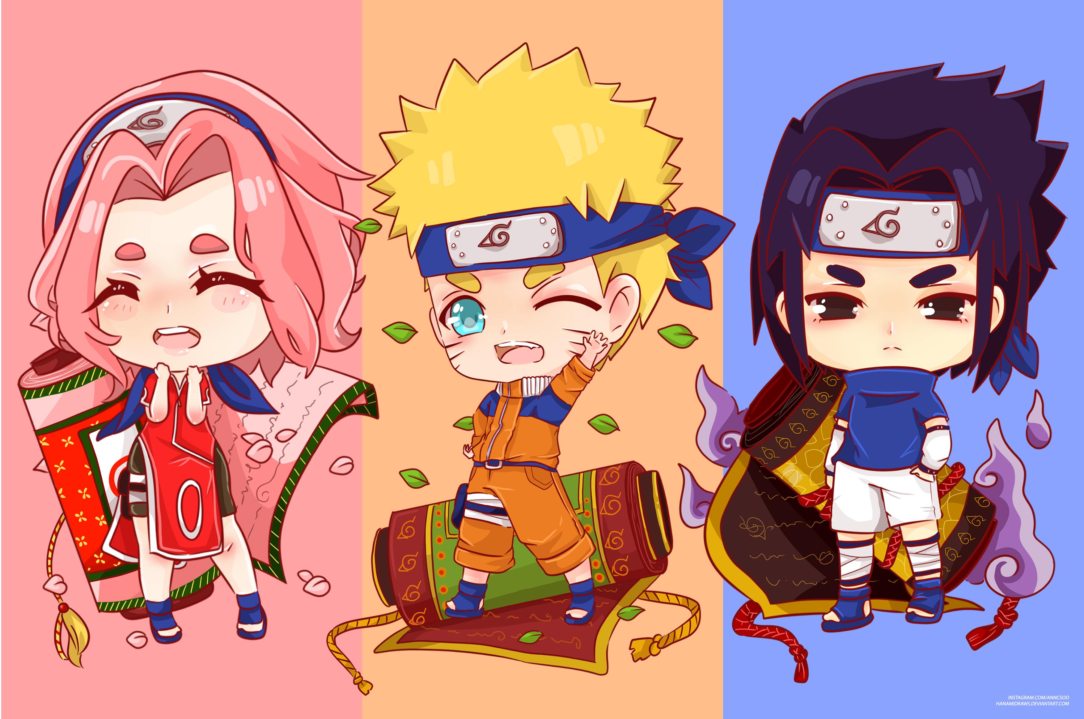 Naruto Uzumaki Sakura Haruno Sasuke Uchiha 3508x2328