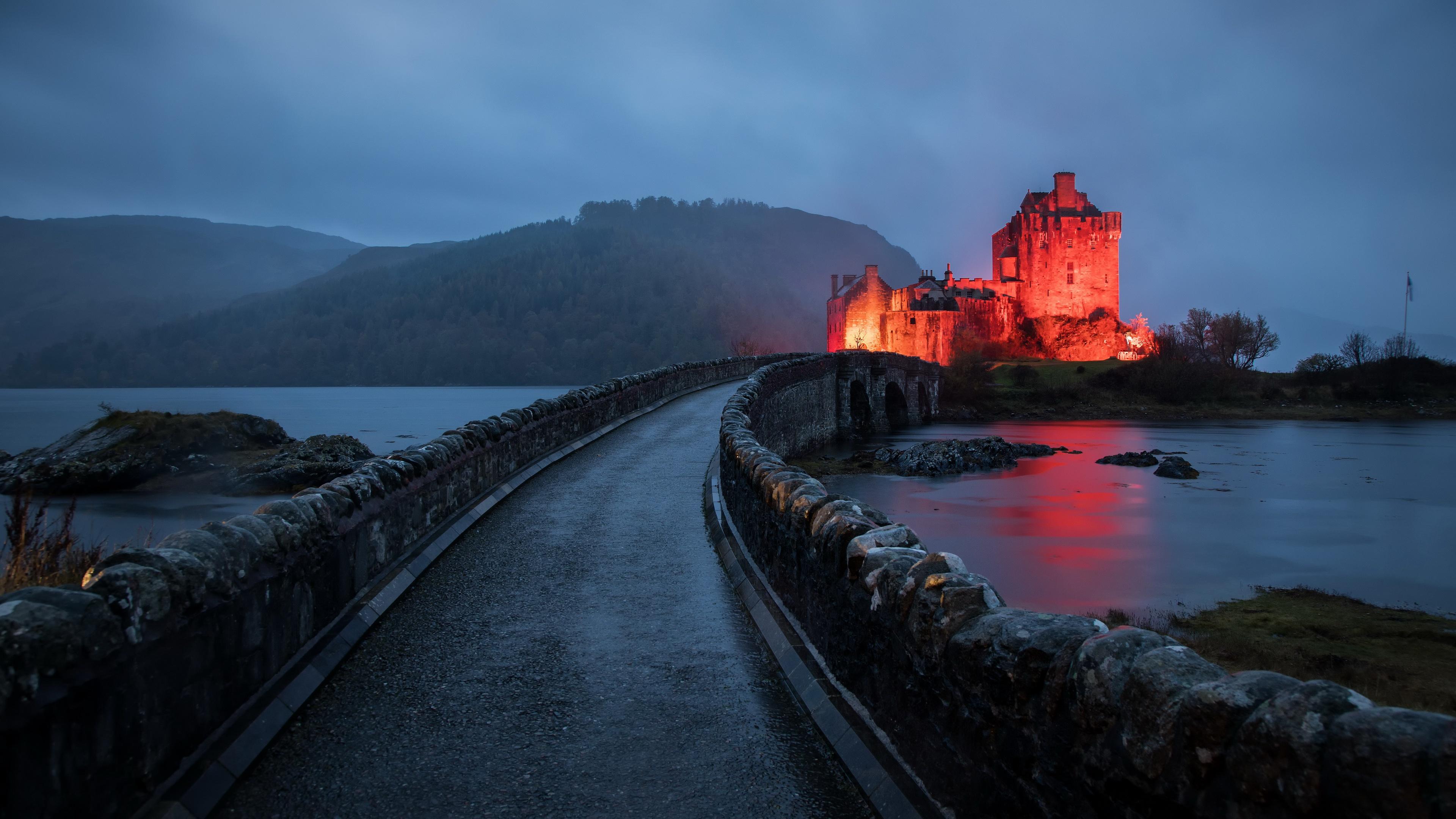 Castle Eilean Donan Castle Scotland 3840x2160