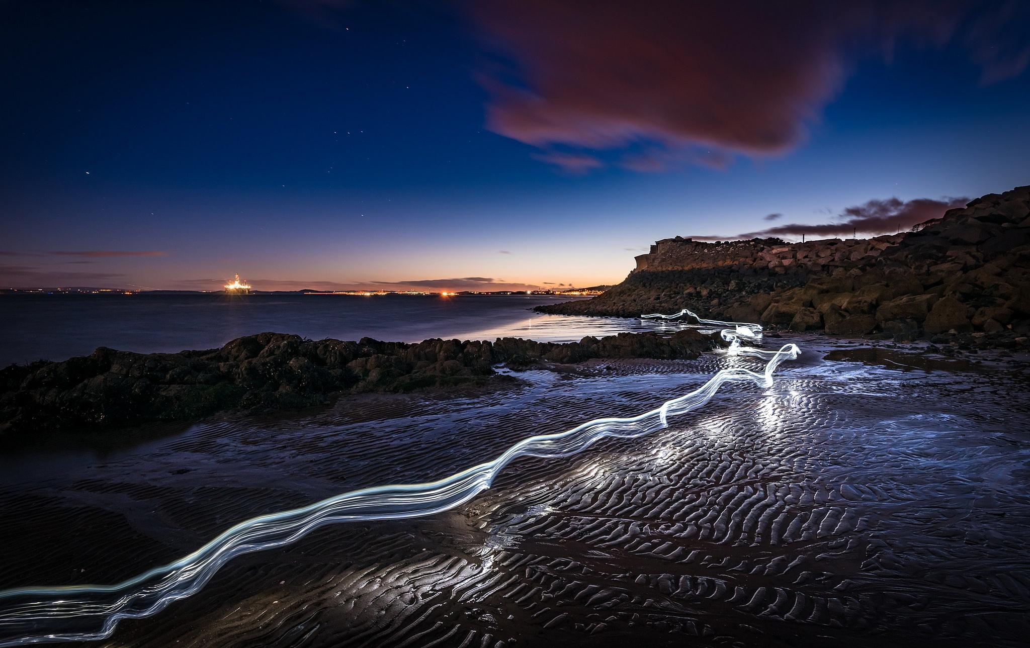 Beach Nature Night Time Lapse 2048x1289