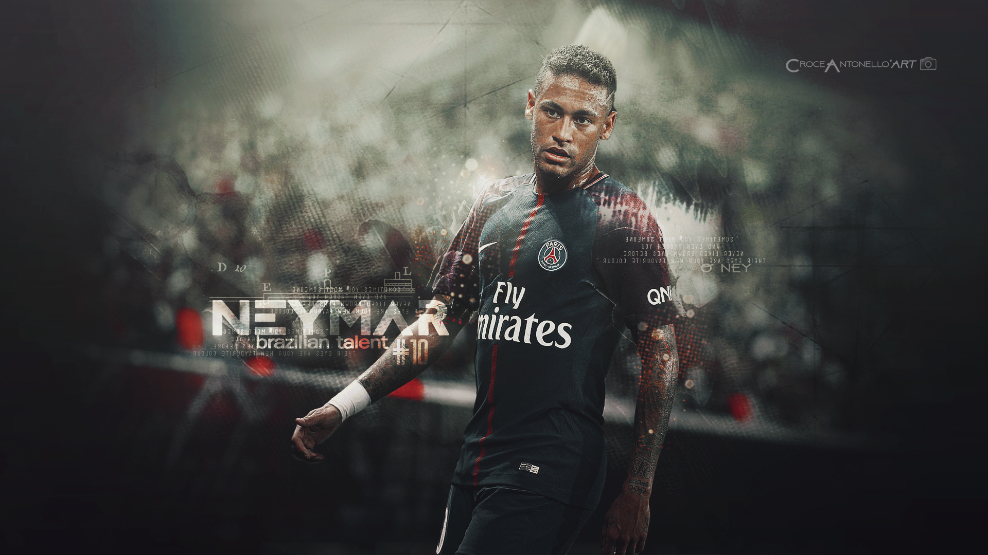 Brazilian Neymar Paris Saint Germain F C Soccer 1920x1080