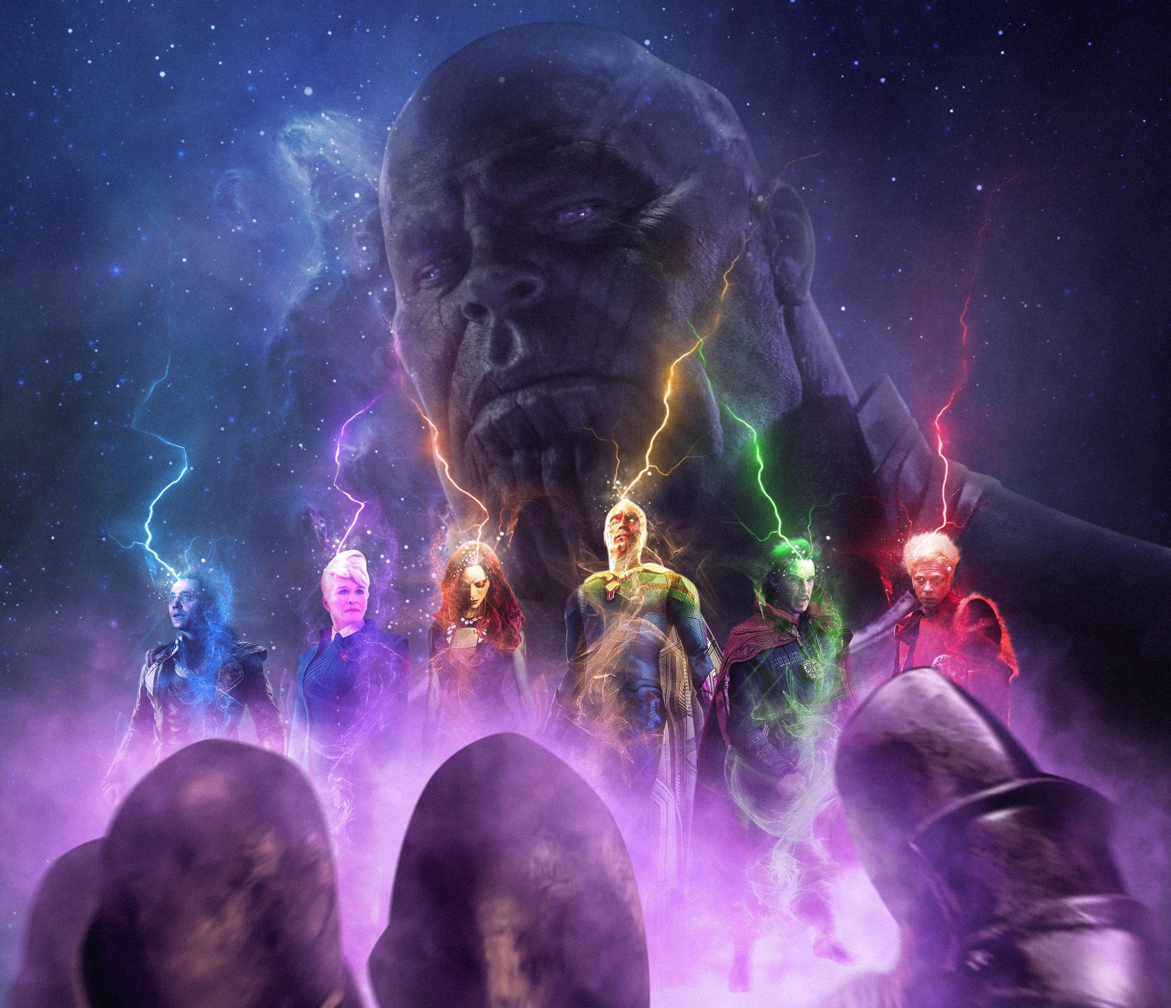 Avengers Infinity War Doctor Strange Gamora Loki Thanos Vision Marvel Comics 2396x2064